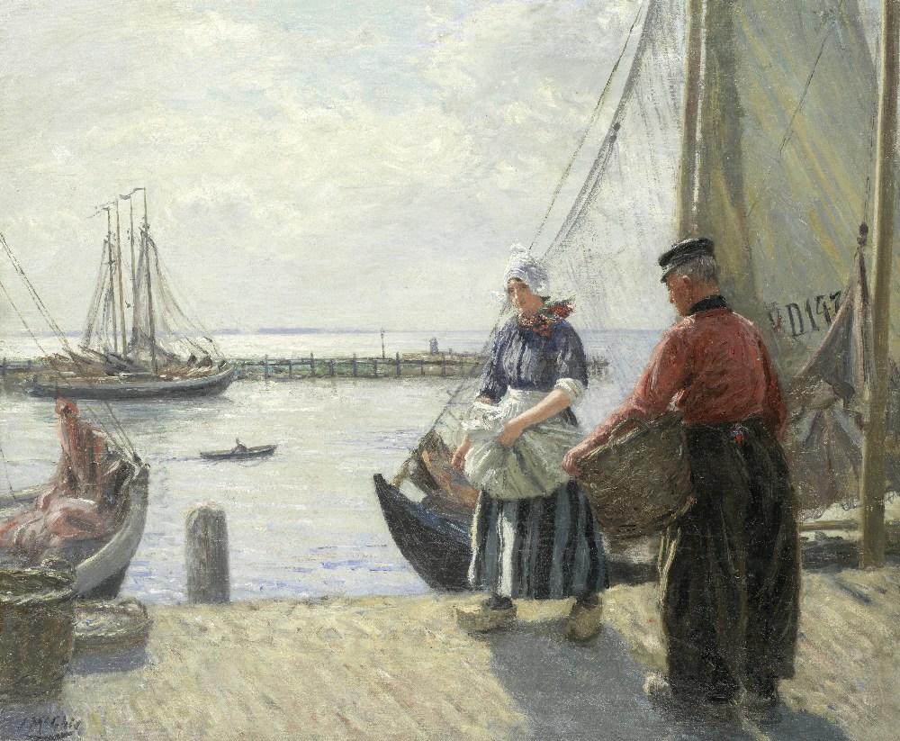 Lot 52 - John McGhie (British, 1867-1952) Fisher girl