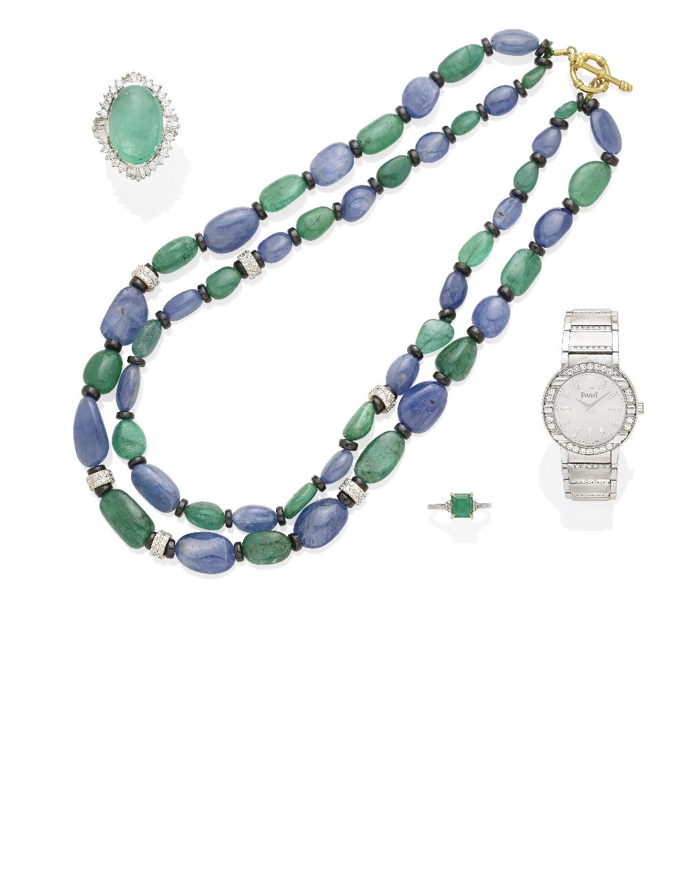Lot 36 - A Lady's Diamond and 18k White Gold 'Polo' Bracelet Watch, Piaget