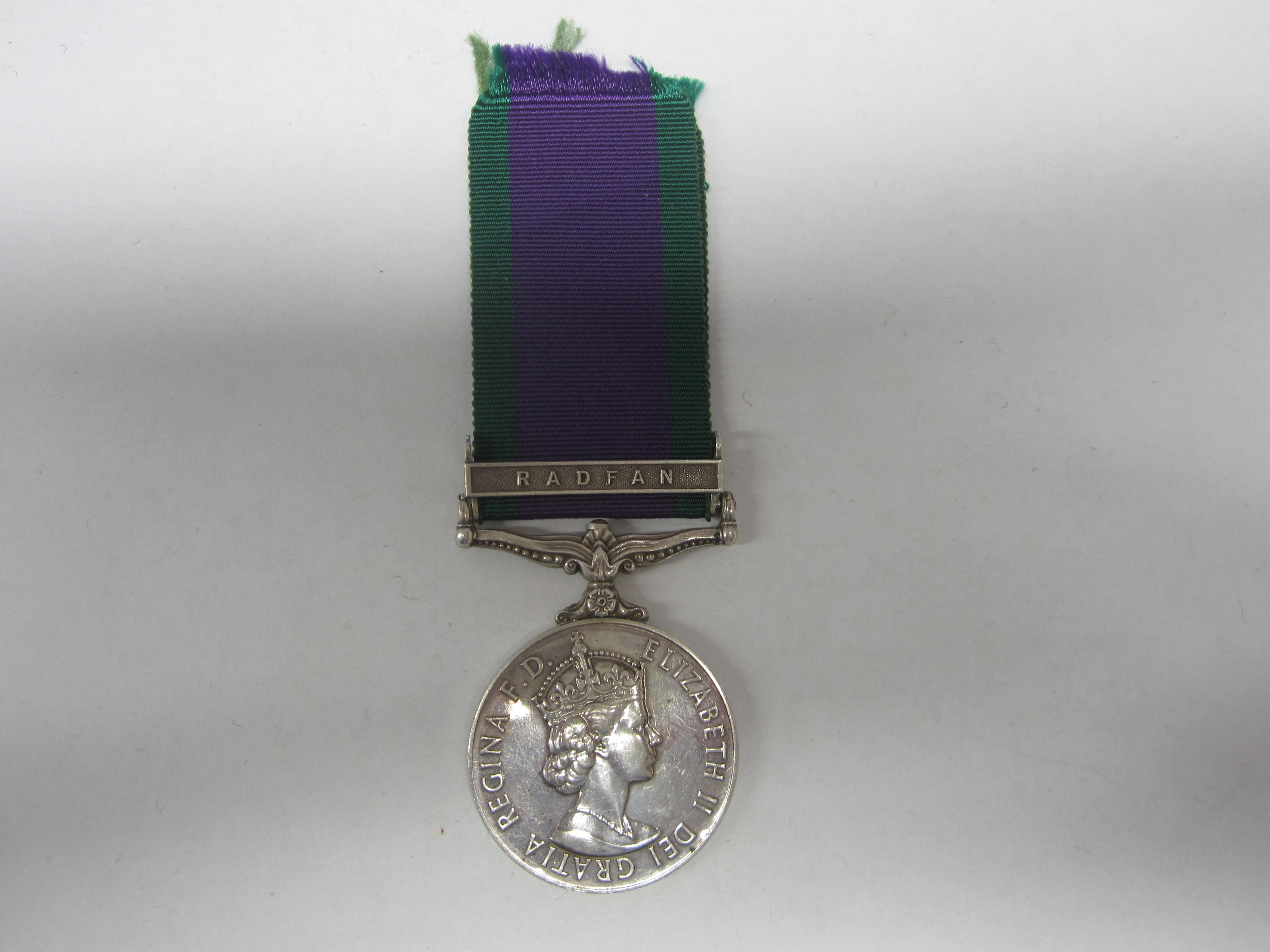 Lot 59 - Campaign Service Medal 1962,