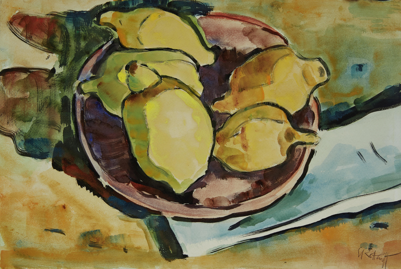 Lot 23 - KARL SCHMIDT-ROTTLUFF (1884-1976) Zitronen 12 1/4 x 18 1/4 in (31.1 x 46.3 cm) (Executed in 1943)