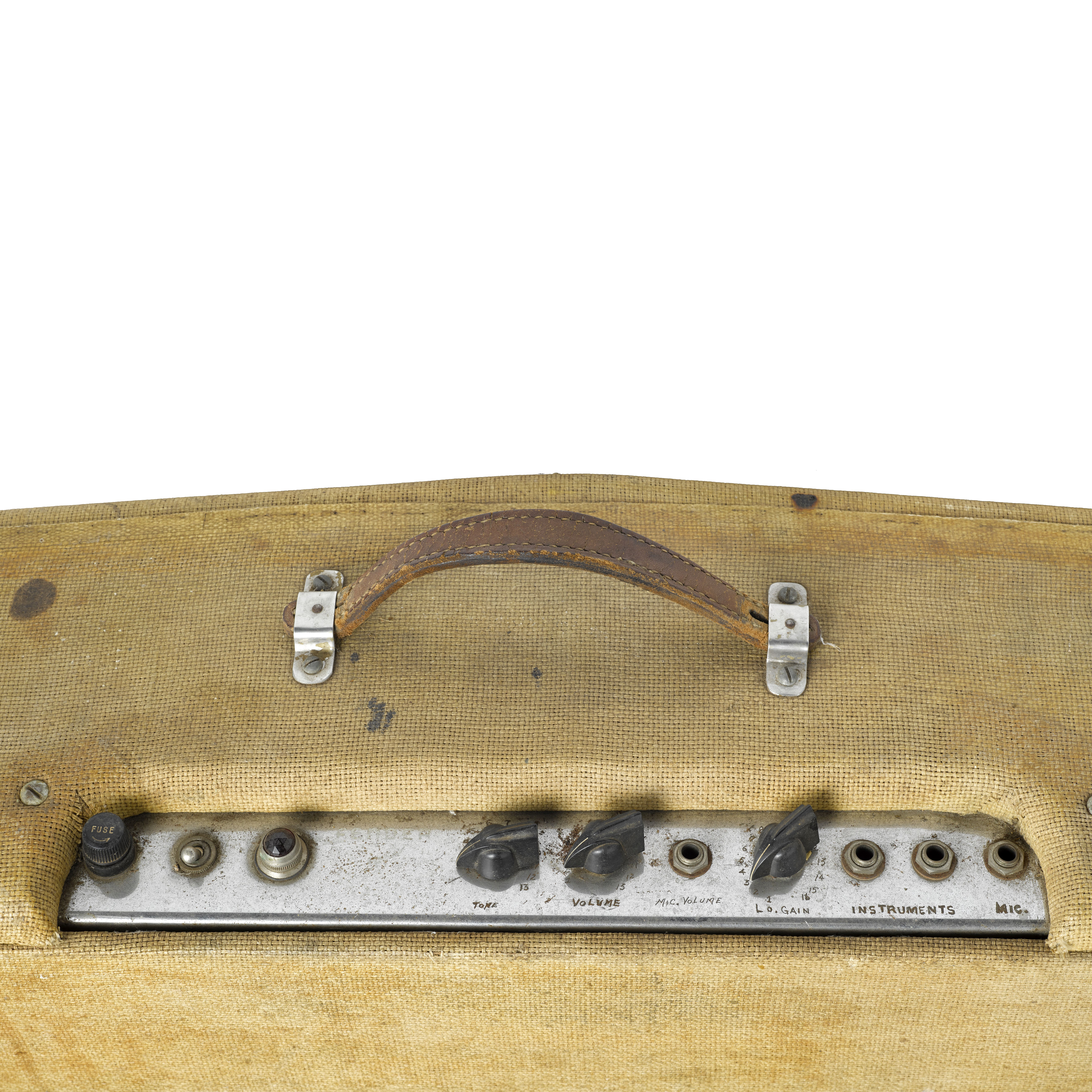 Lot 329 - AN EARLY FENDER DUAL PROFESSIONAL SILVERFACE AMPLIFIER OWNED AND USED BY JERRY GARCIA