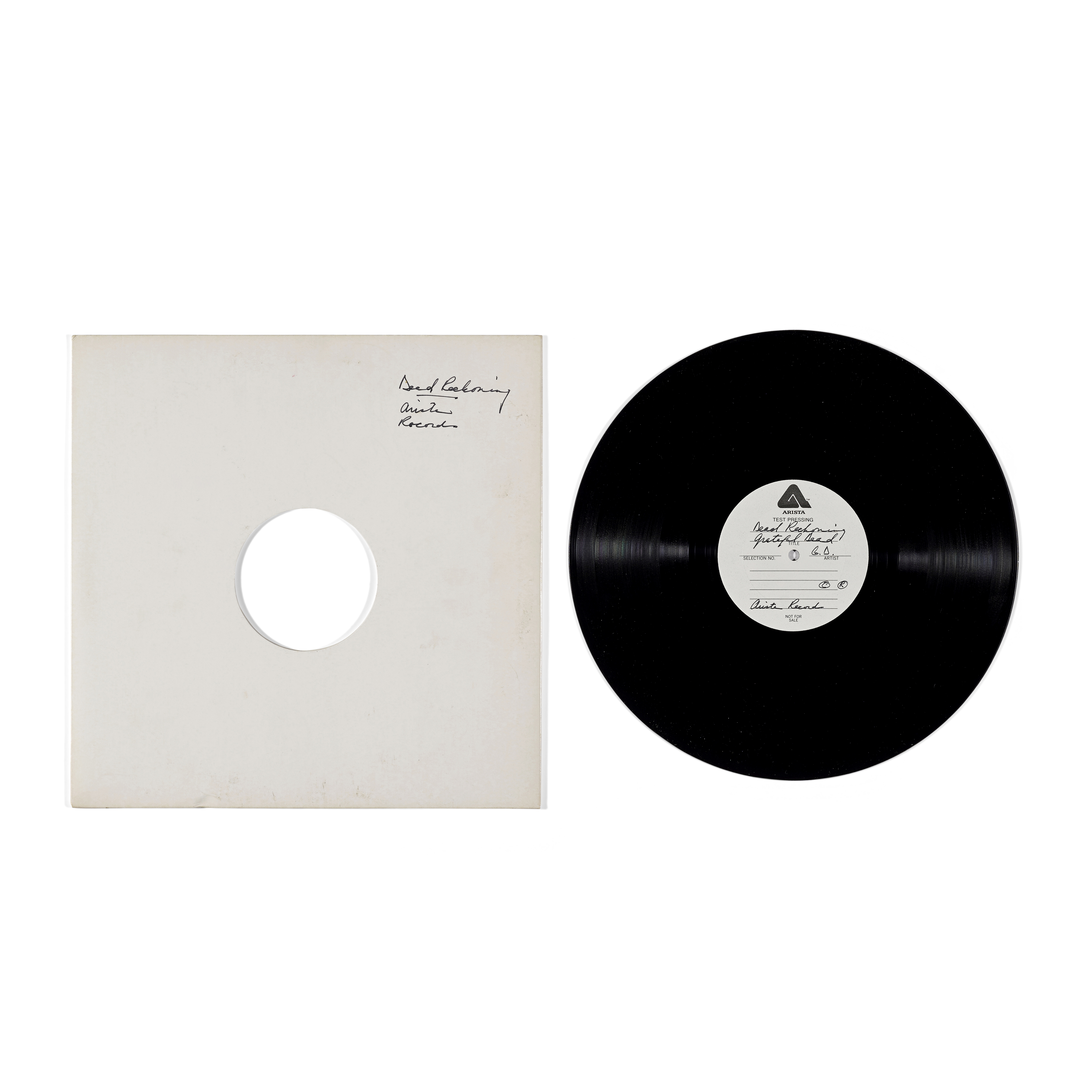Lot 343 - A JERRY GARCIA TWO-SIDED TEST PRESSING FOR RECKONING 1981