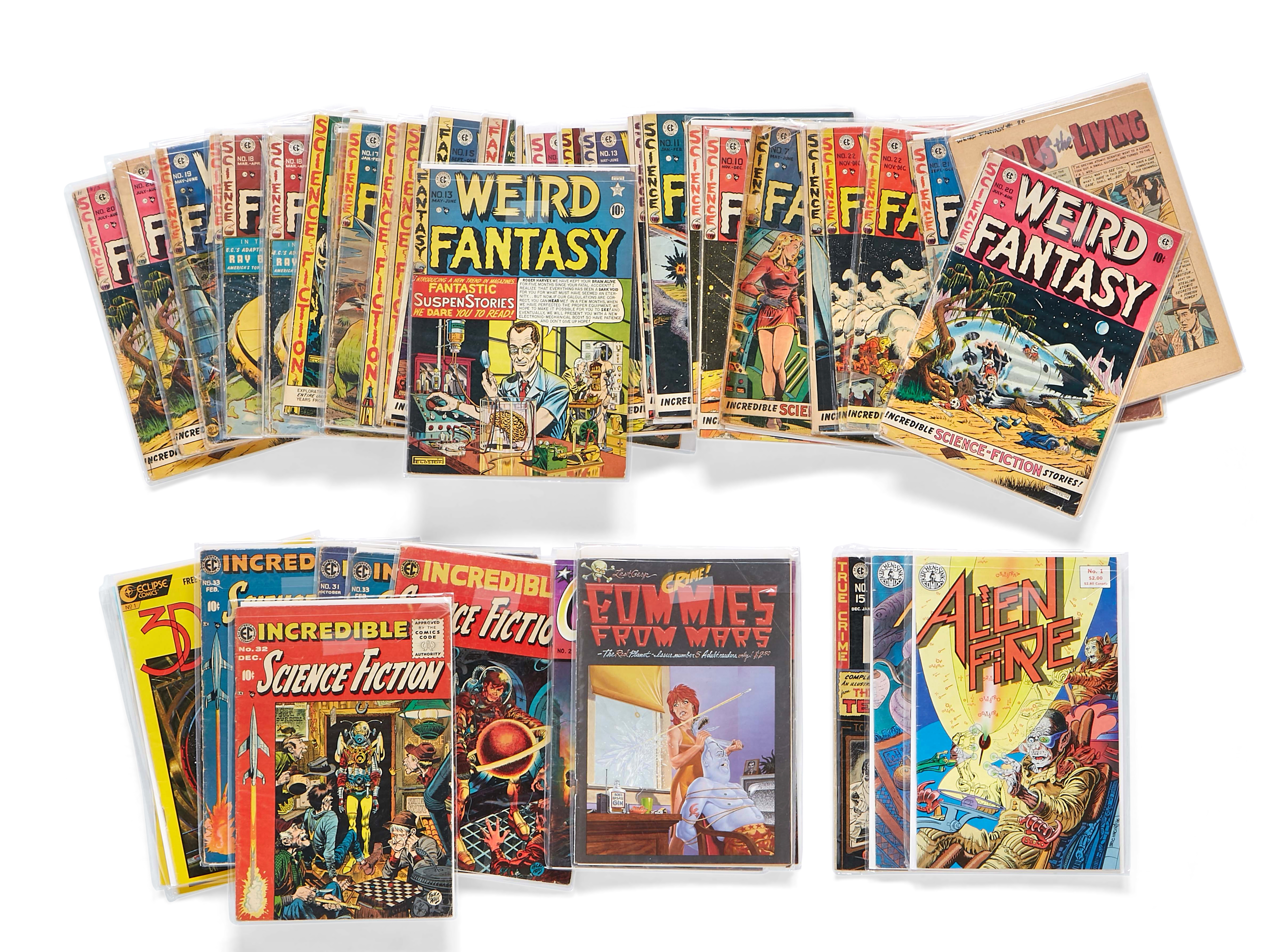 Lot 309 - A JERRY GARCIA GROUP OF 33 EC COMICS WEIRD FANTASY AND OTHER TITLES majority 1950s