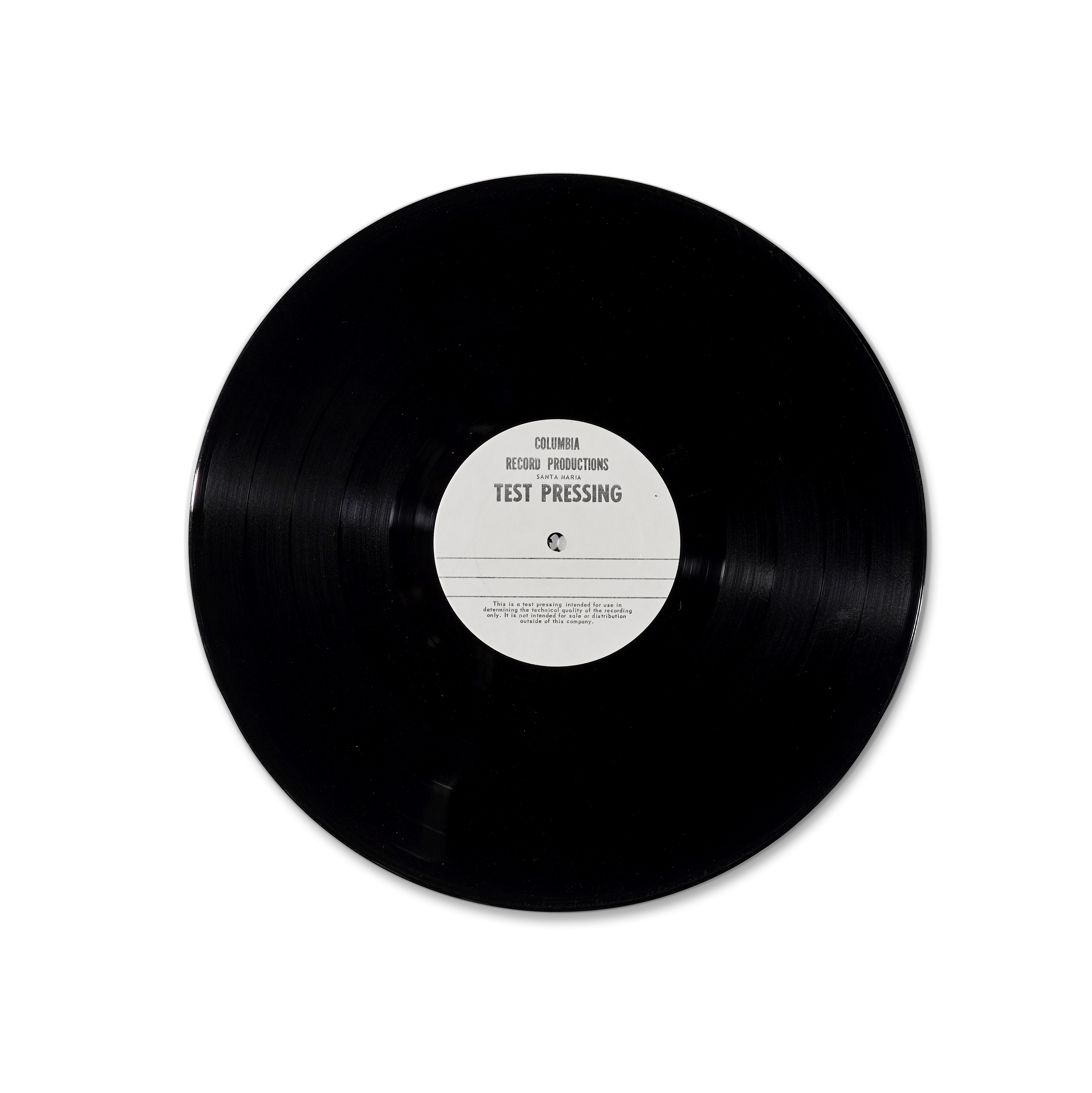 Lot 318 - A JERRY GARCIA TWO-SIDED TEST PRESSING FOR WORKINGMAN'S DEAD circa 1971