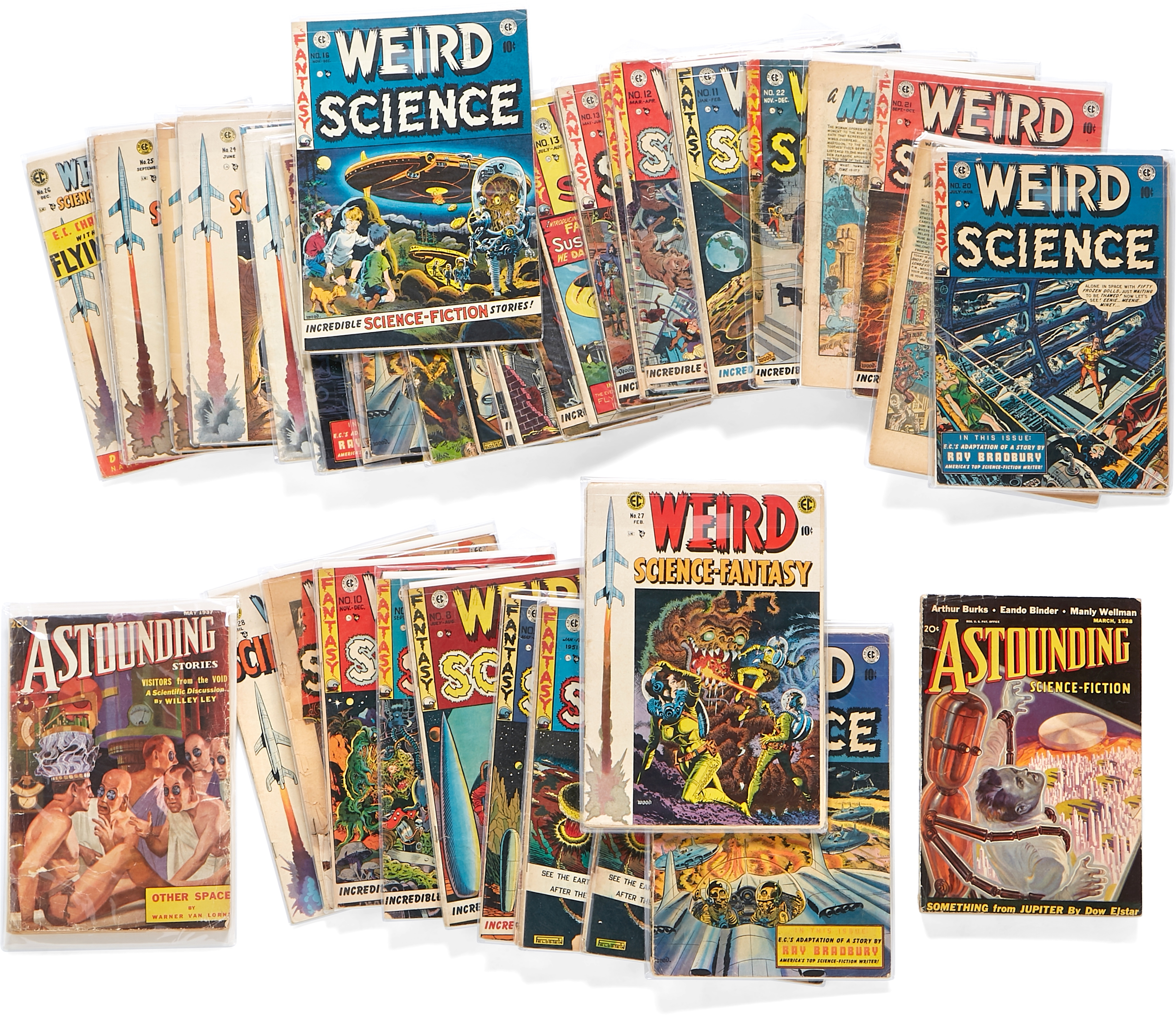 Lot 307 - A JERRY GARCIA GROUP OF 41 WEIRD SCIENCE & WEIRD SCIENCE-FANTASY EC COMICS AND 4 ISSUES OF ASTOUN...