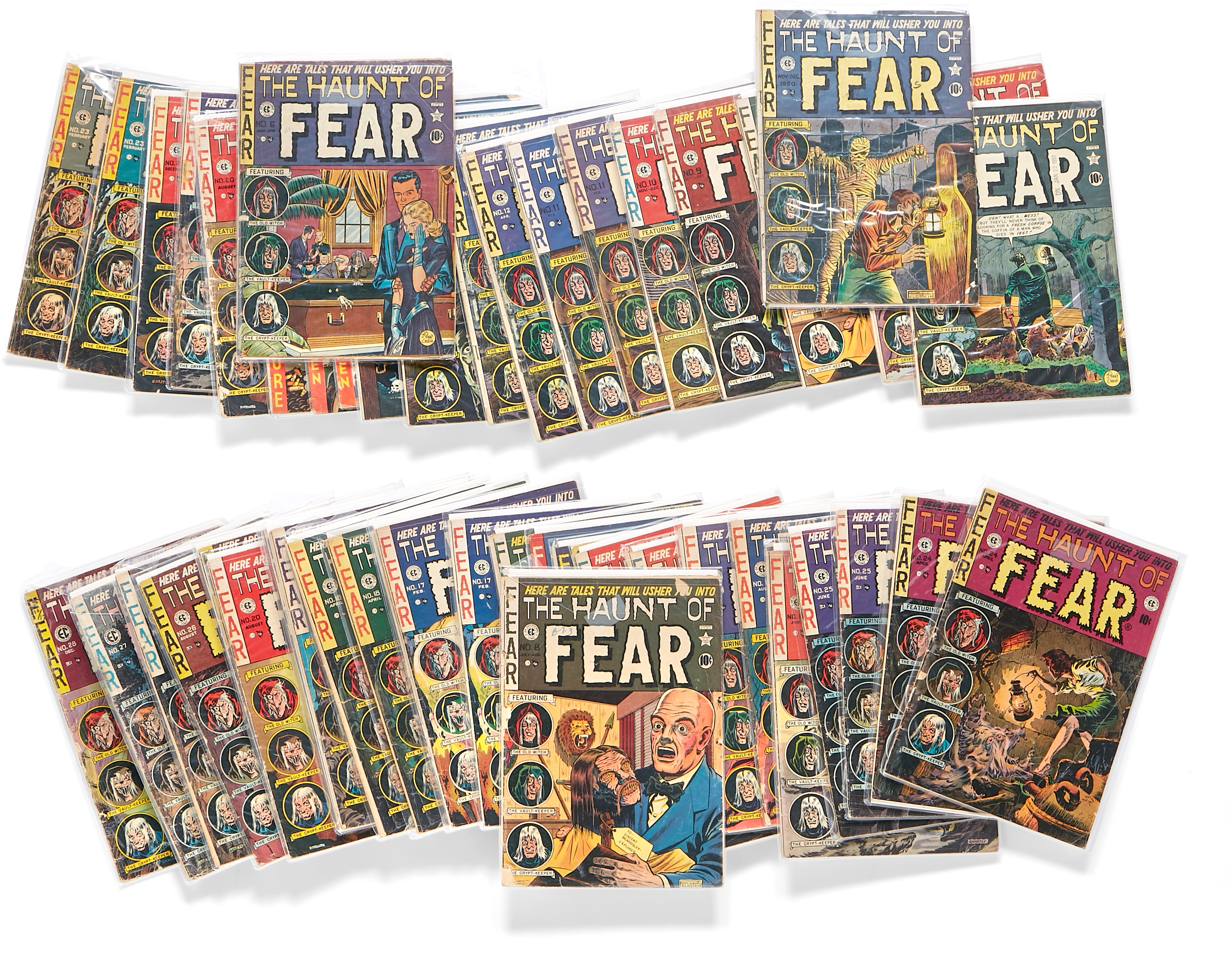 Lot 304 - A JERRY GARCIA GROUP OF 45 ISSUES OF EC COMICS THE HAUNT OF FEAR 1950s