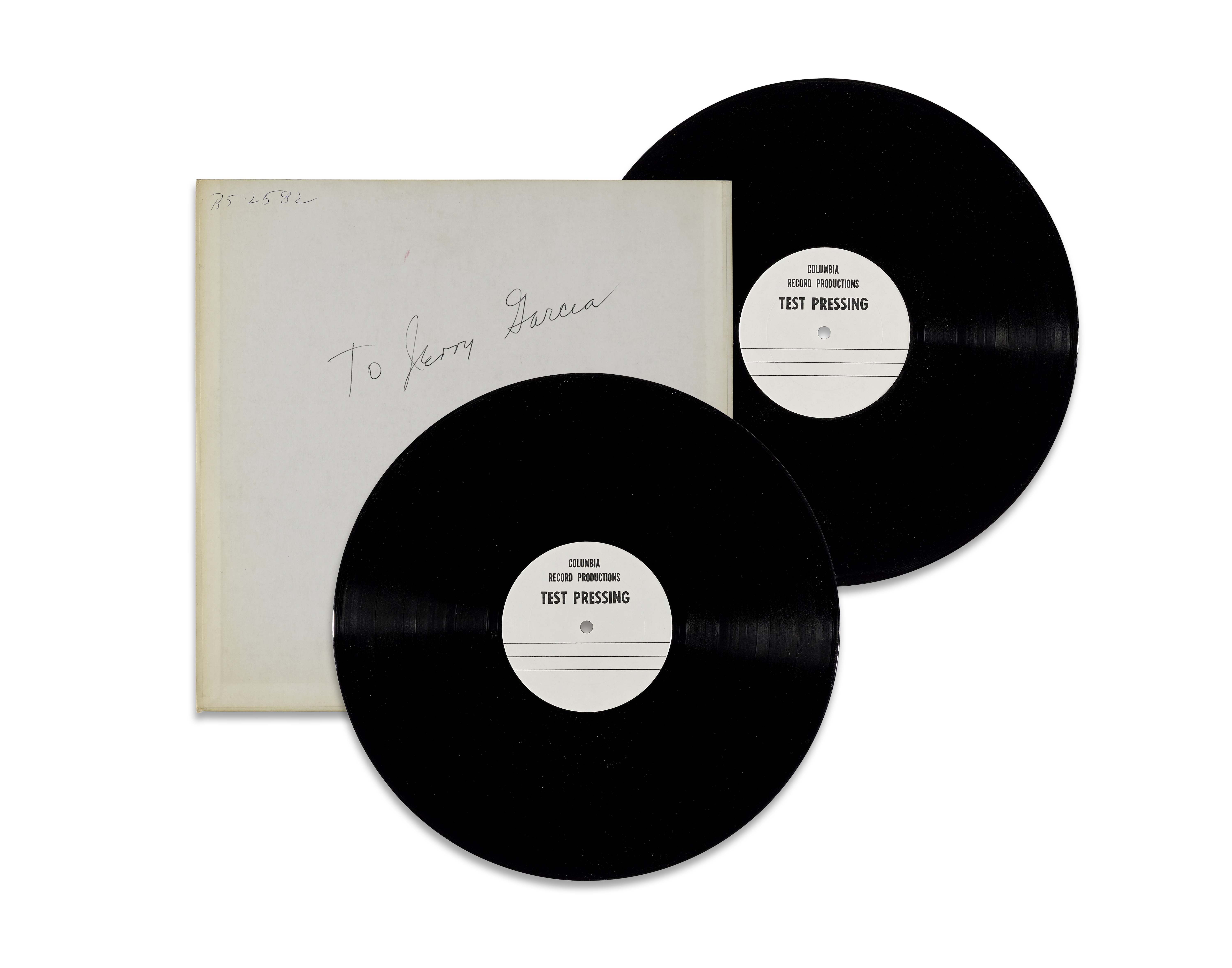 Lot 316 - TWO TEST PRESSINGS FOR THE DOUBLE ALBUM AOXOMOXOA REMIX INSCRIBED BY JERRY GARCIA 1971
