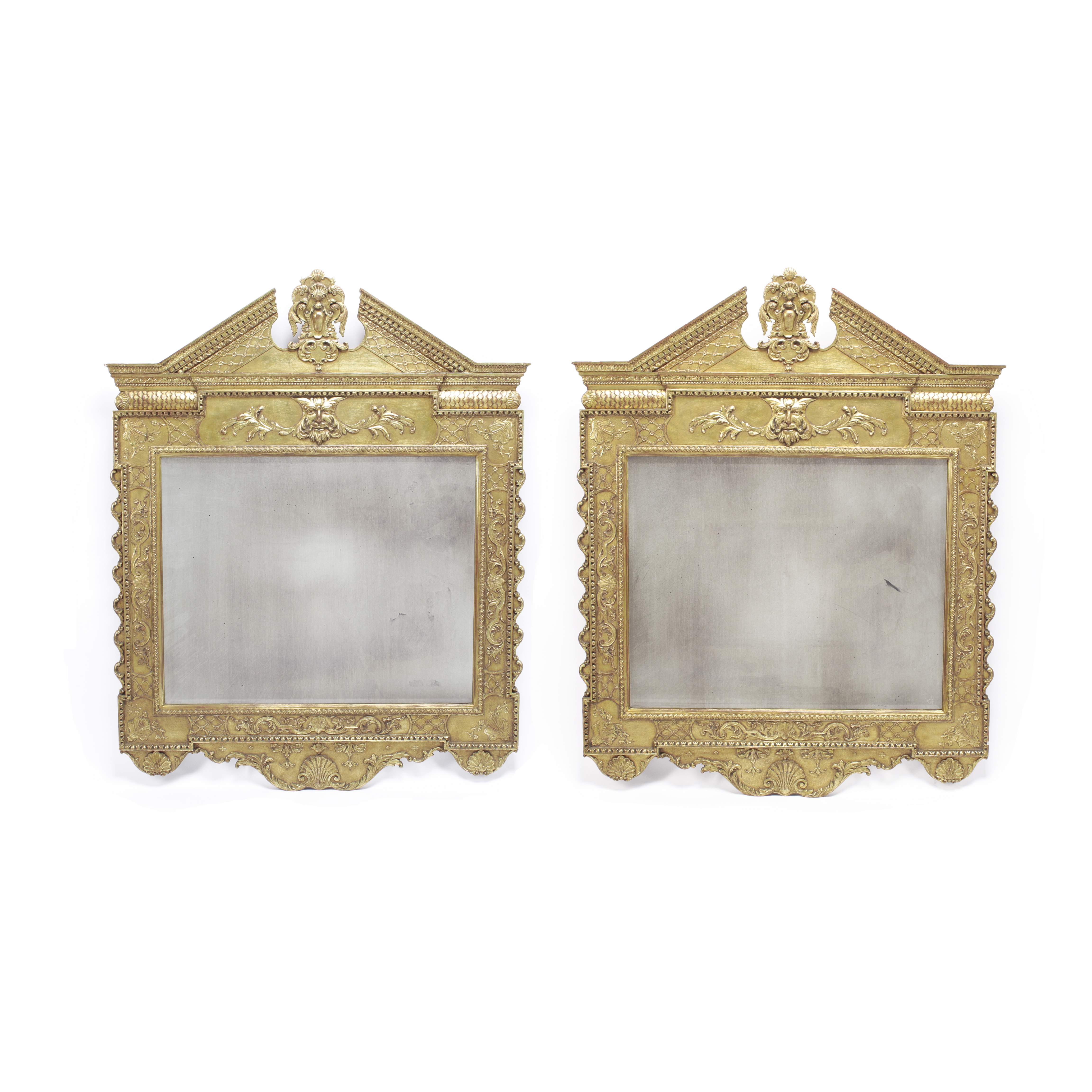 Lot 151 - A Pair of George II Style Giltwood Mirrors Late 19th/early 20th century