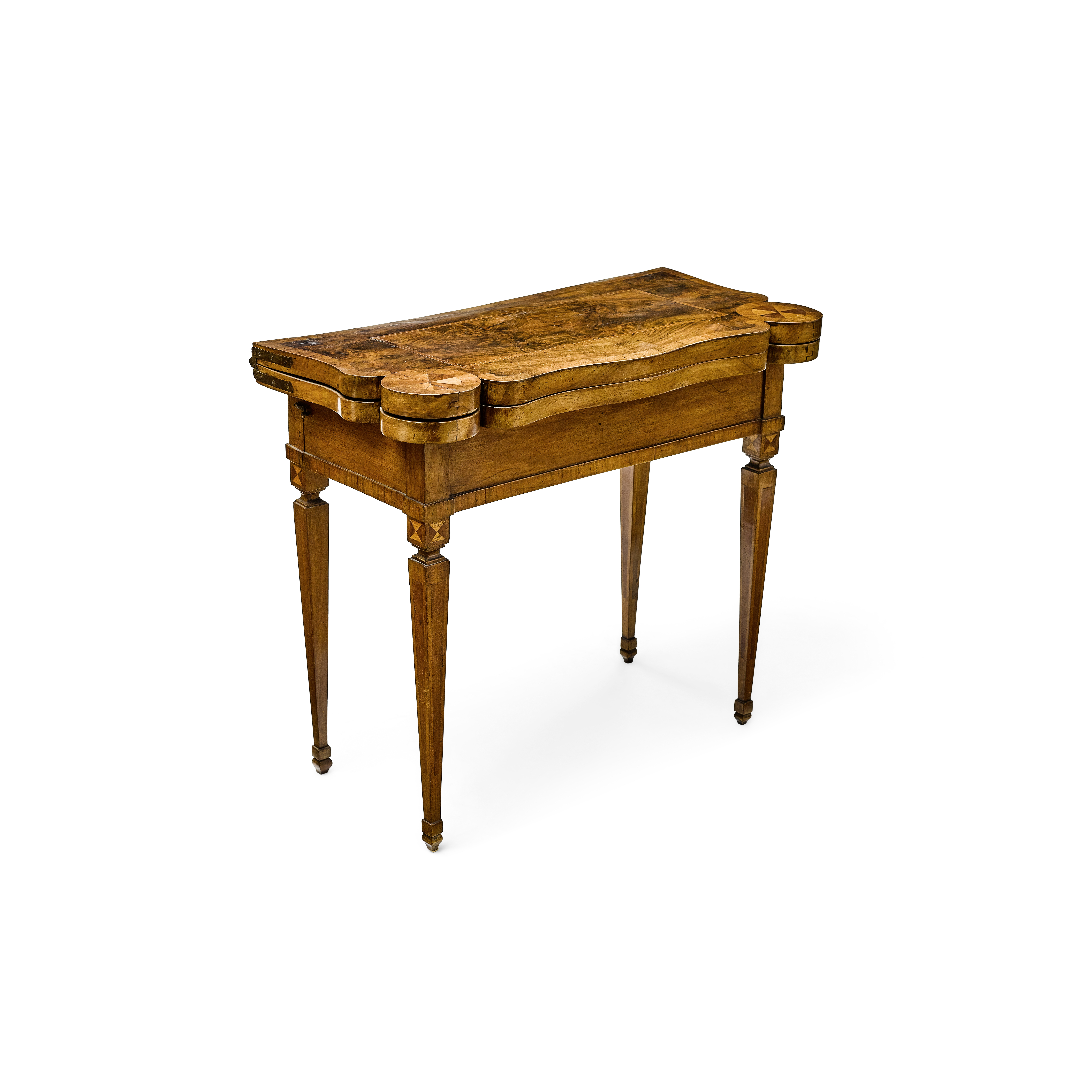 Lot 203 - A Neoclassical Parquetry and Walnut Games Table Possibly Swiss, fourth quarter 18th century
