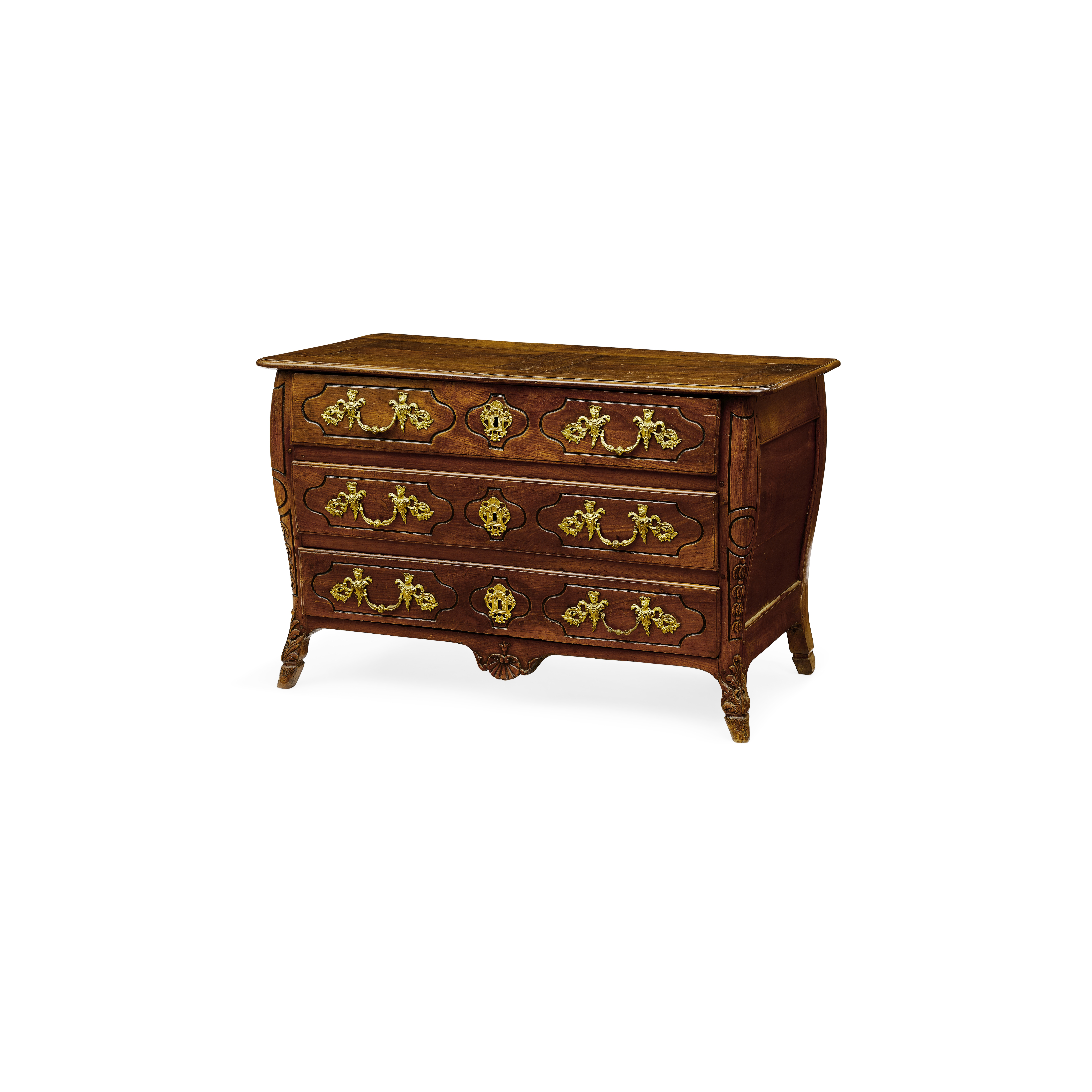 Lot 164 - A Louis XV Provincial Walnut Commode 18th century