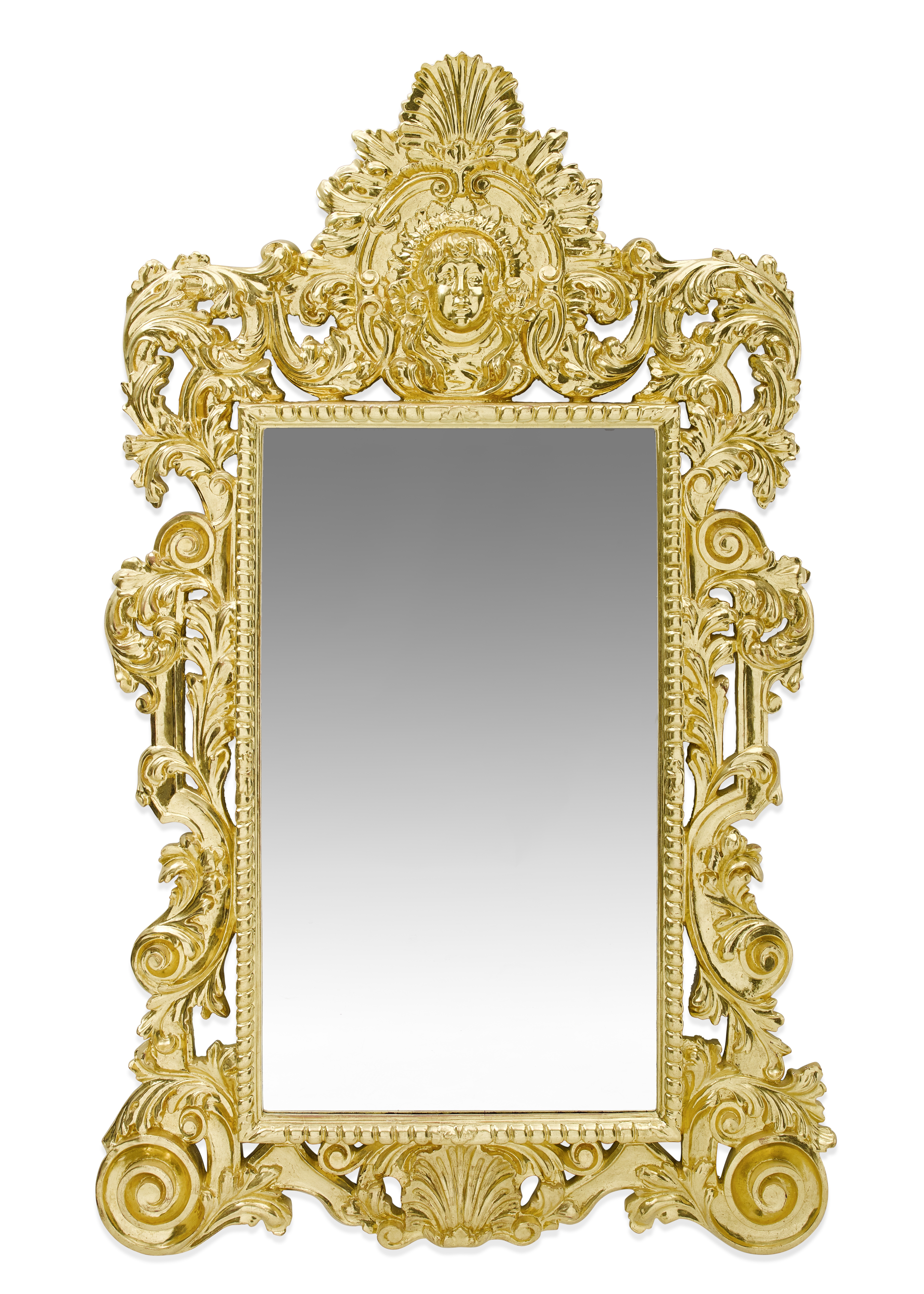 Lot 114 - A Continental Baroque Style Giltwood Mirror 20th century