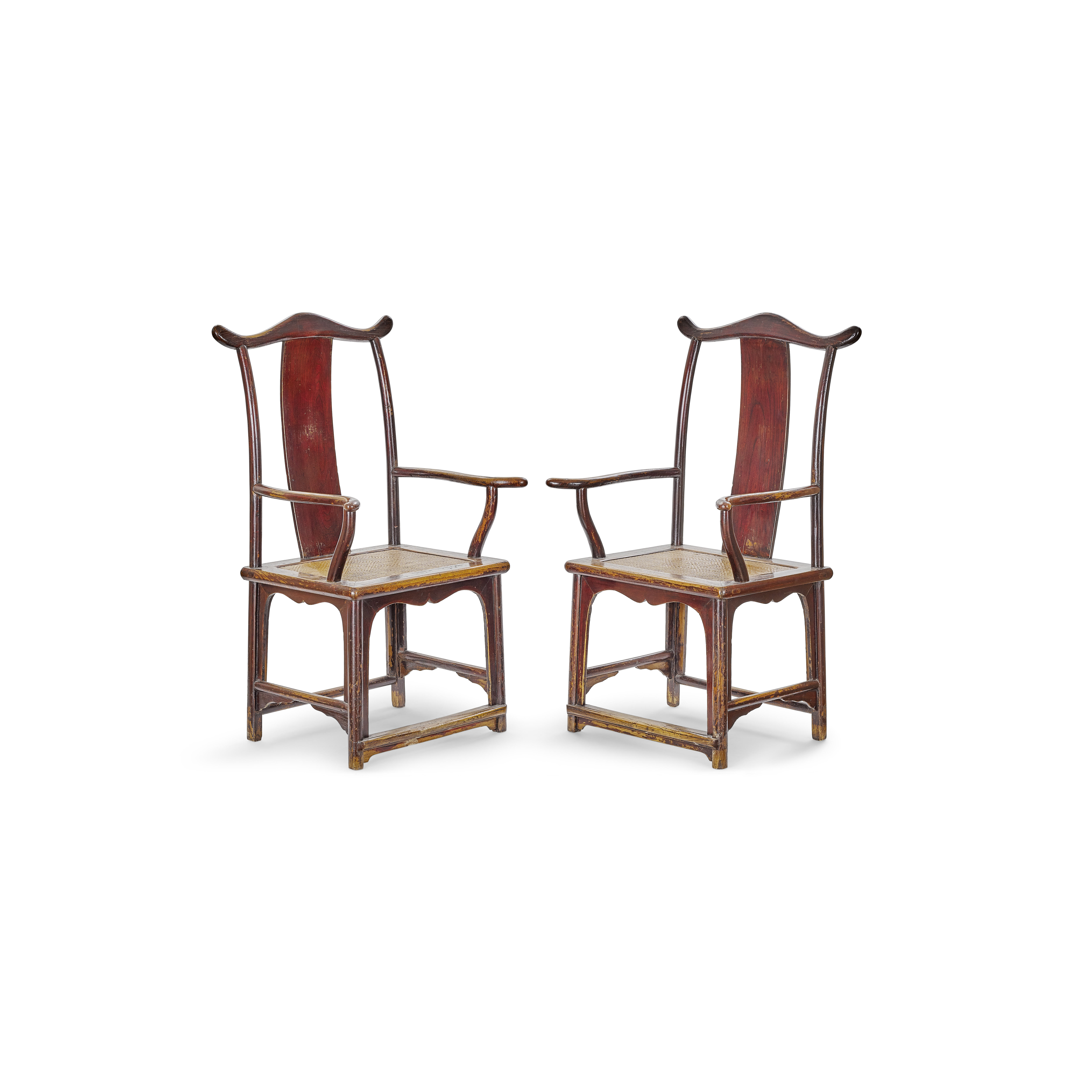 Lot 254 - A pair of Chinese Huaimu armchairs 18th century, Shanxi