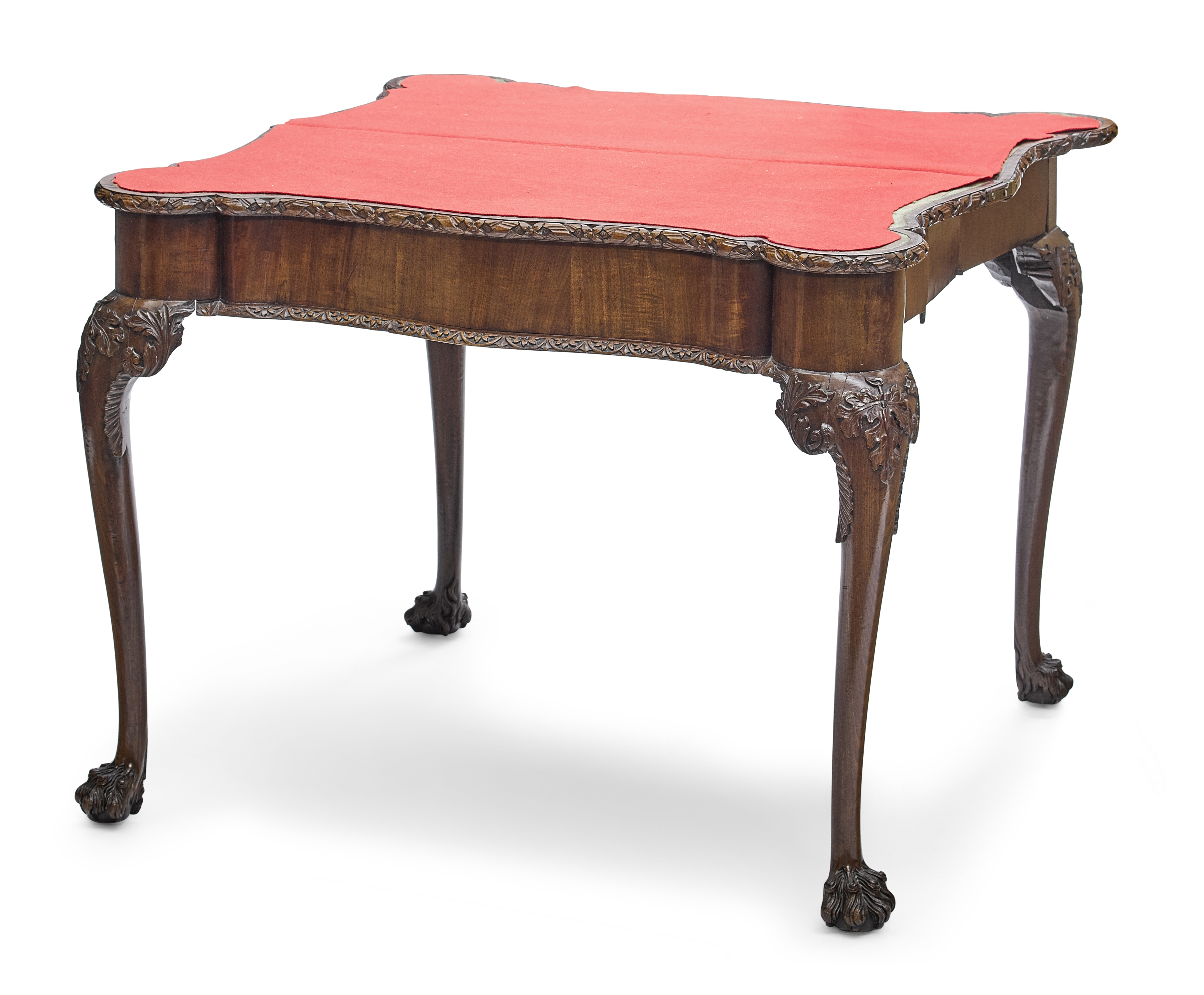 Lot 139 - A George II mahogany concertina action games table 18th century