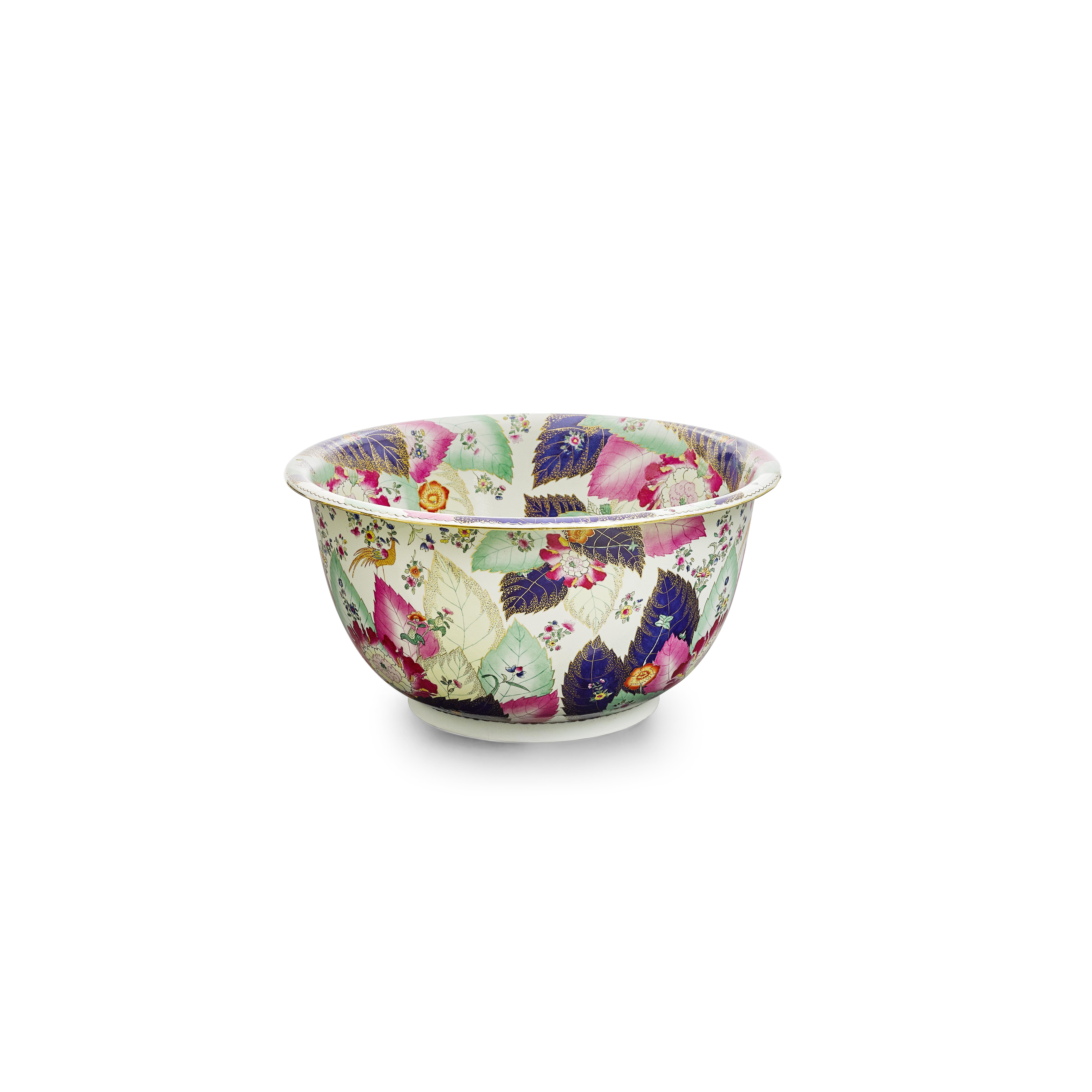 Lot 247 - A Chinese Porcelain tobacco leaf bowl Modern
