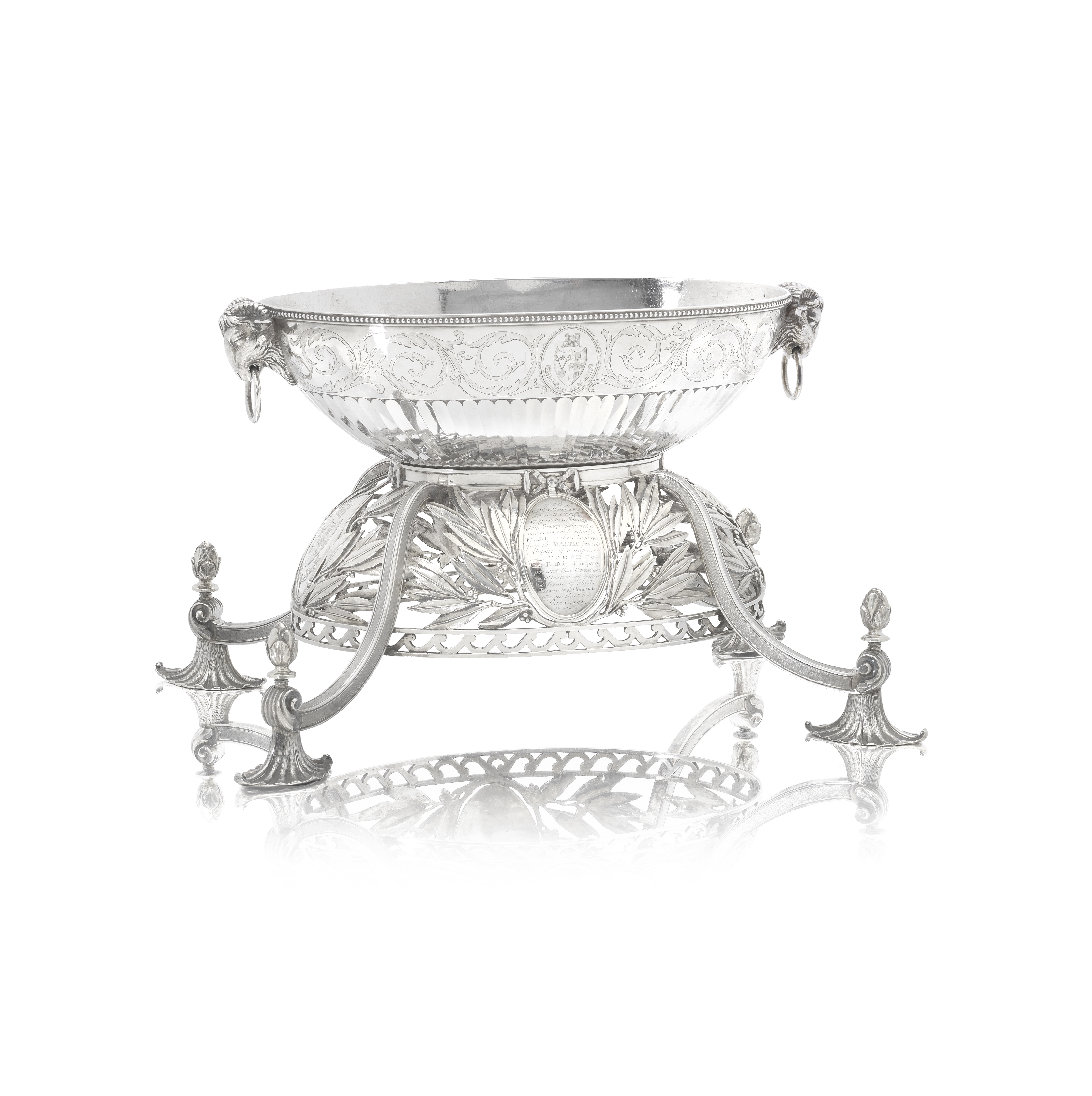 Lot 55 - A George III silver epergne / centrepiece: Naval and American Revolutionary War Interest John Wak...