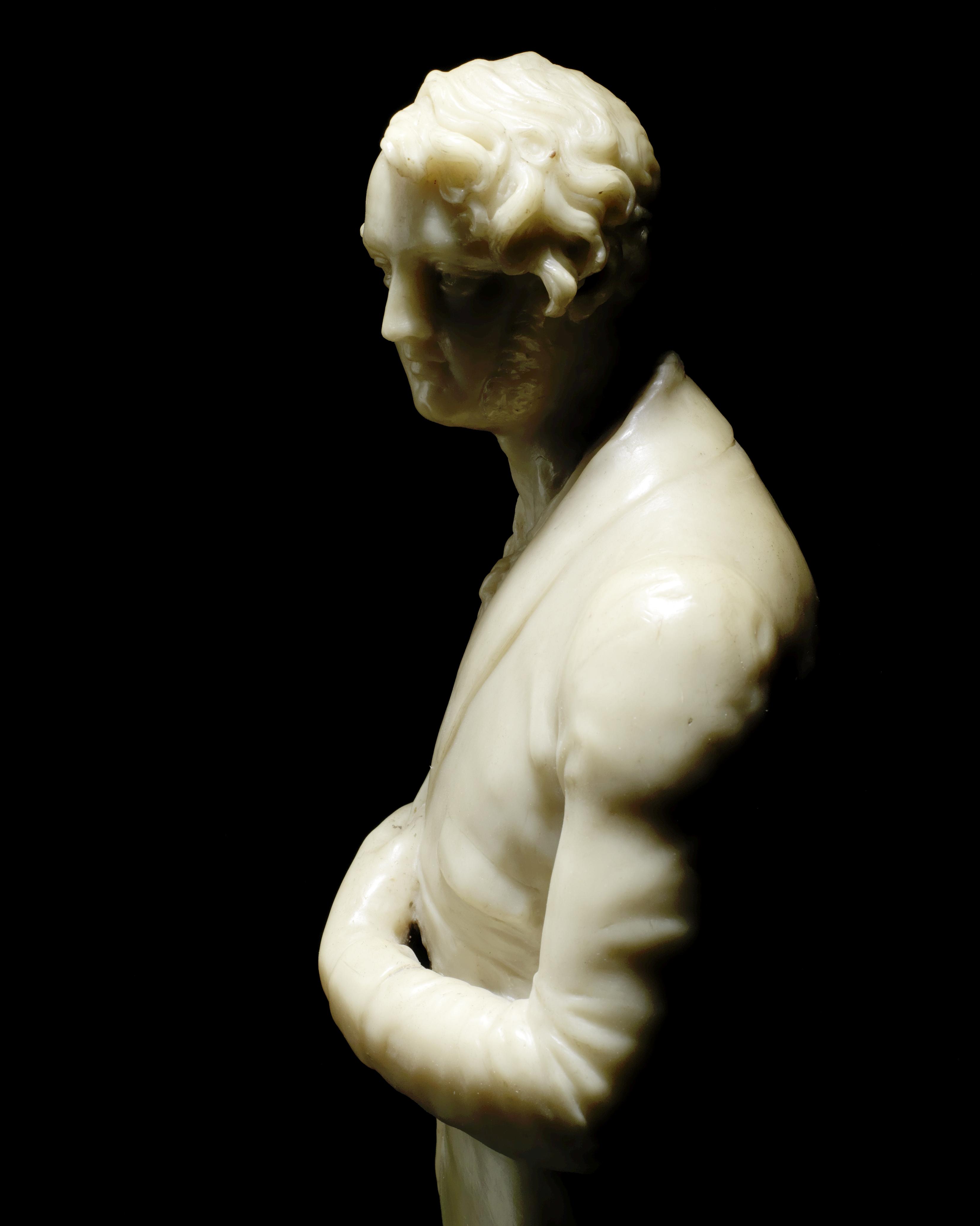 Lot 42 - Richard Cockle Lucas (British 1800-1883): A second quarter 19th century wax portrait figure of a ...