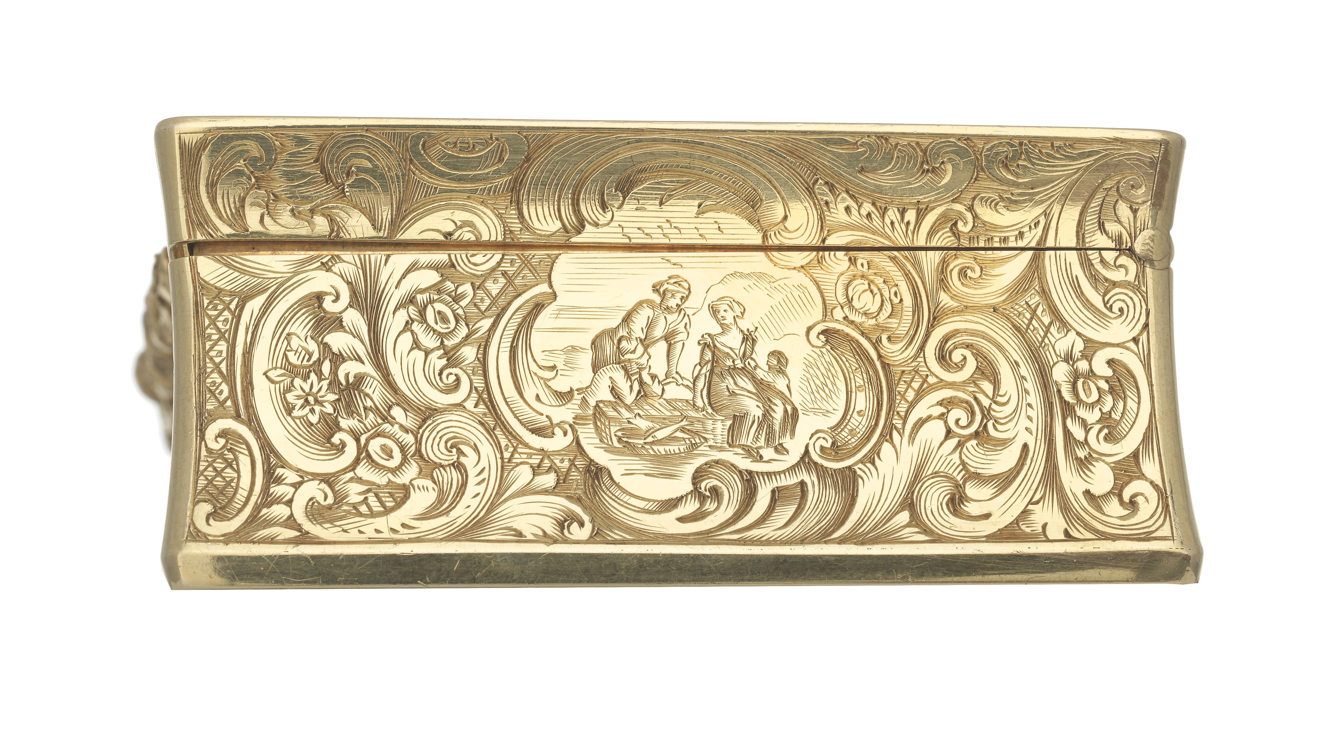 Lot 1 - A Victorian 18 carat gold box Charles Reily & George Storer, London 1845
