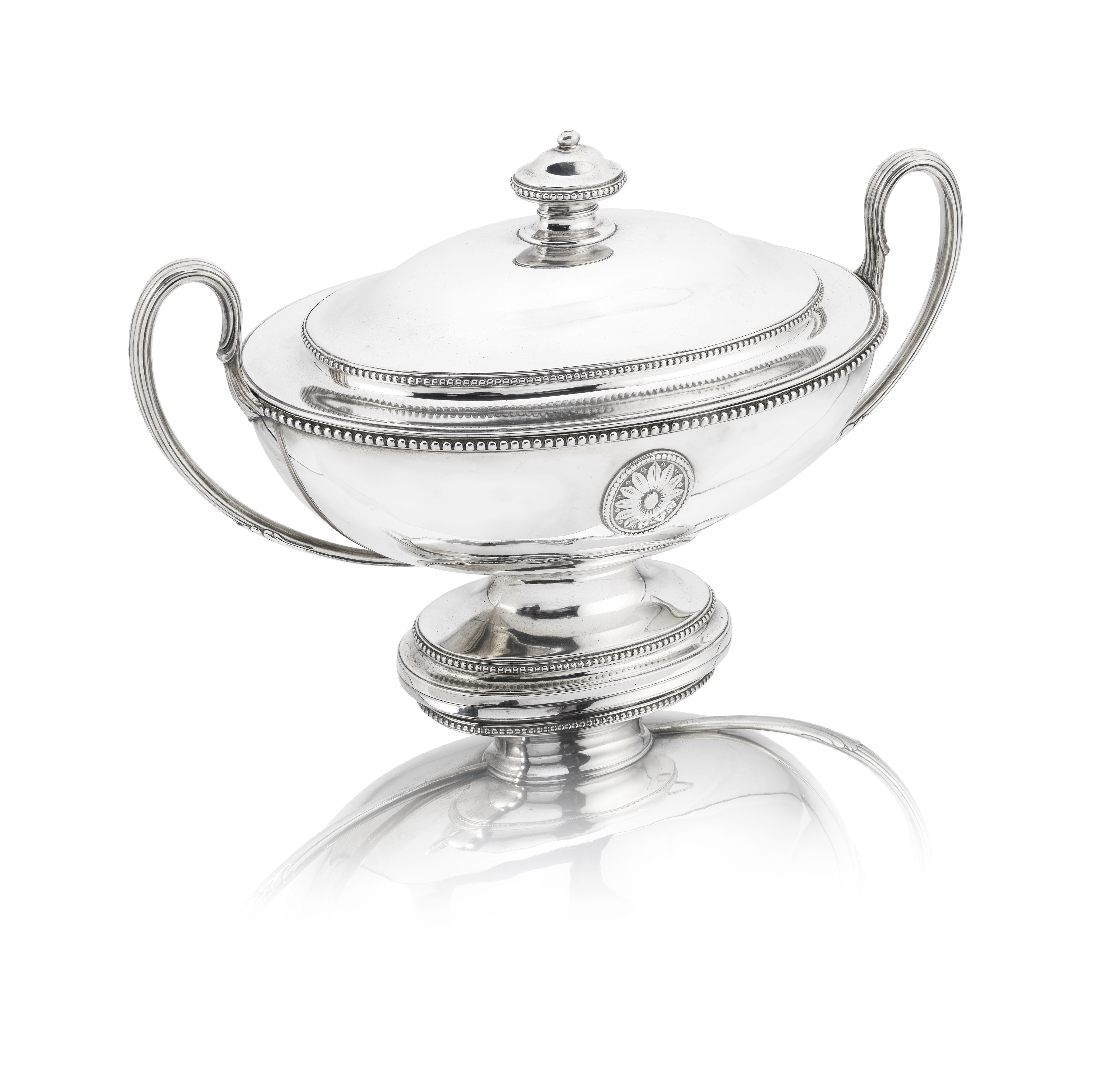 Lot 56 - A George III silver soup tureen Thomas Heming, London 1777