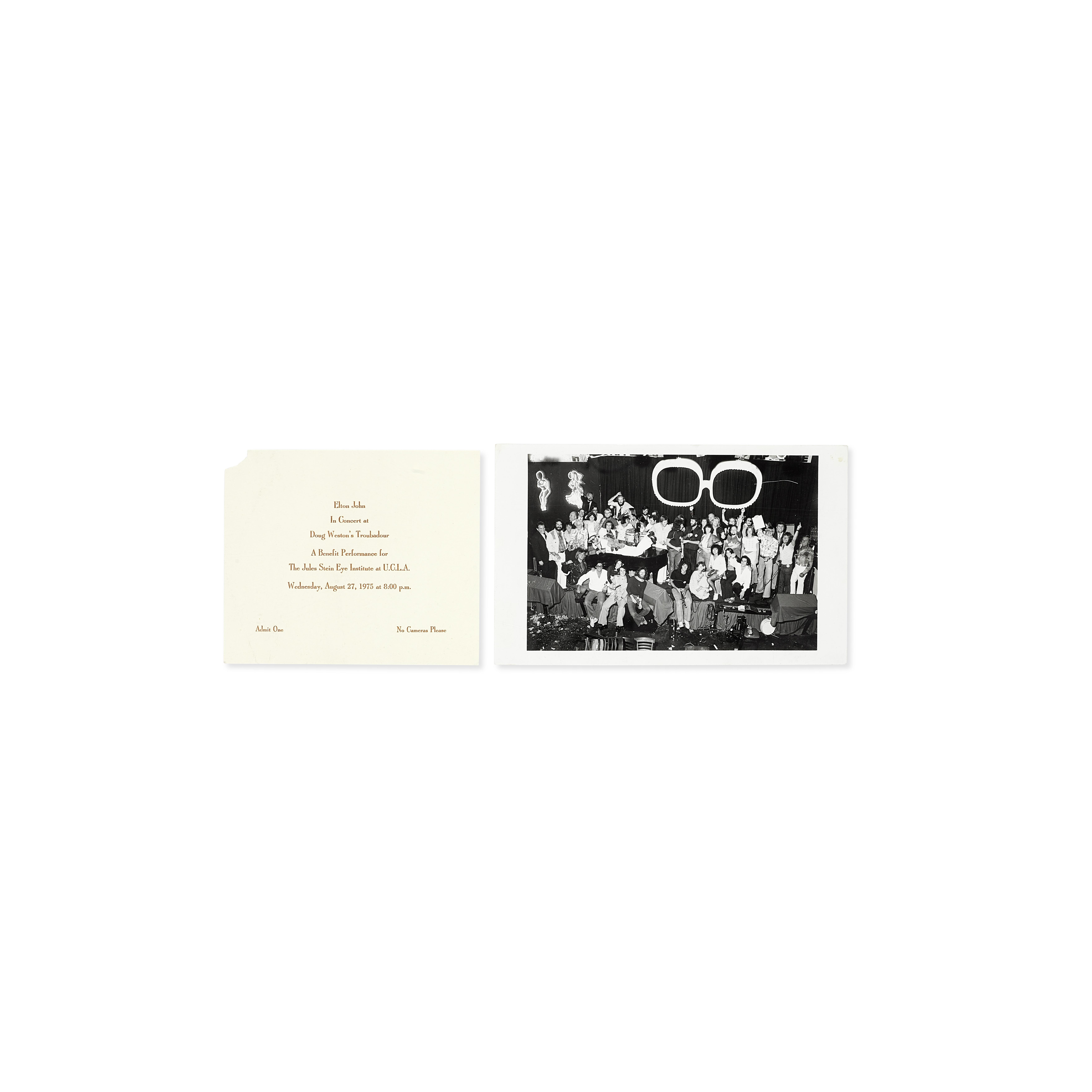 Lot 55 - A Group Of Elton John 'Five Years of Fun' Concert Ephemera