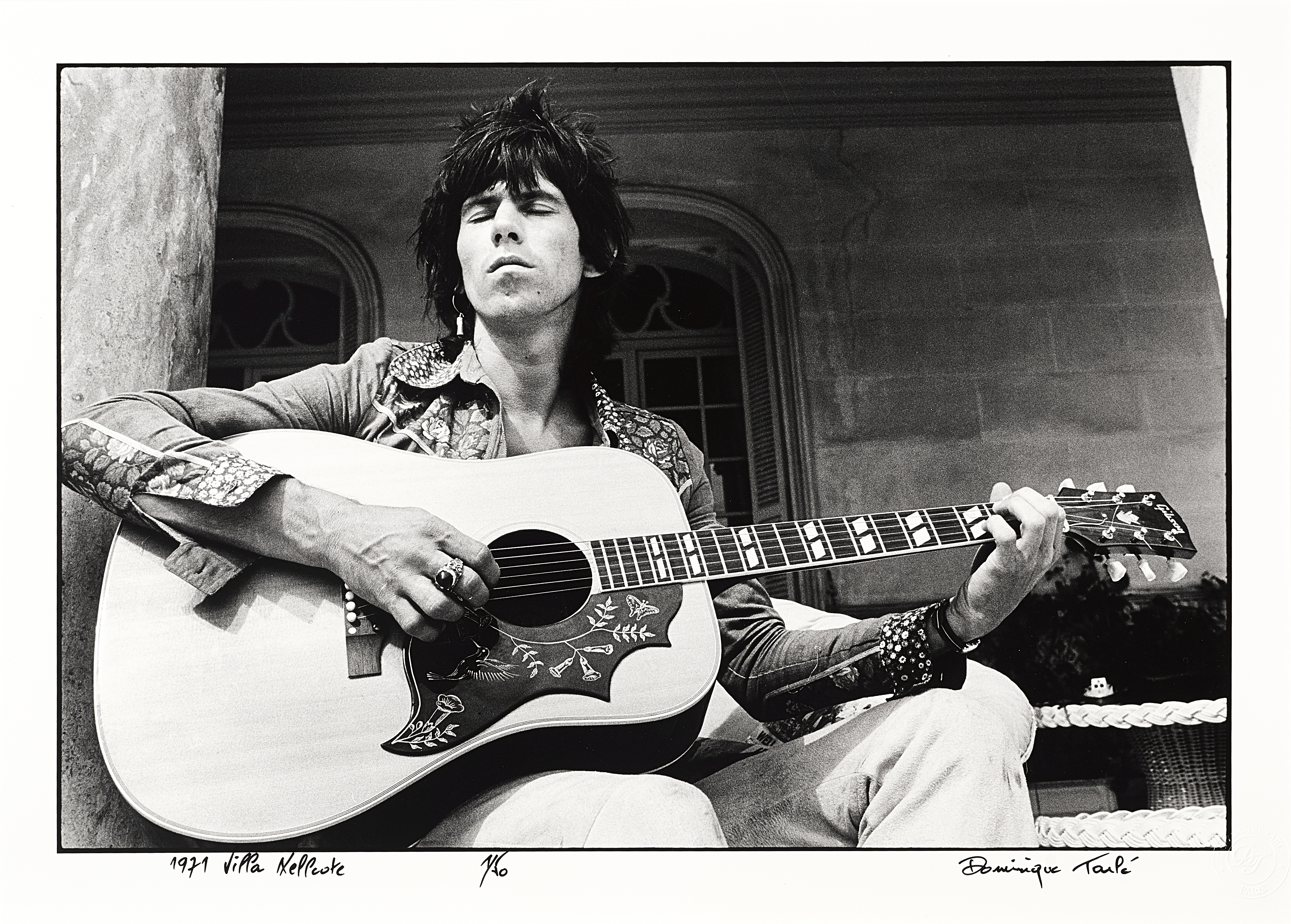 Lot 42 - A Limited Edition Photograph of Keith Richards By Dominique Tarlé (French, born 1949) Titled 'Vil...