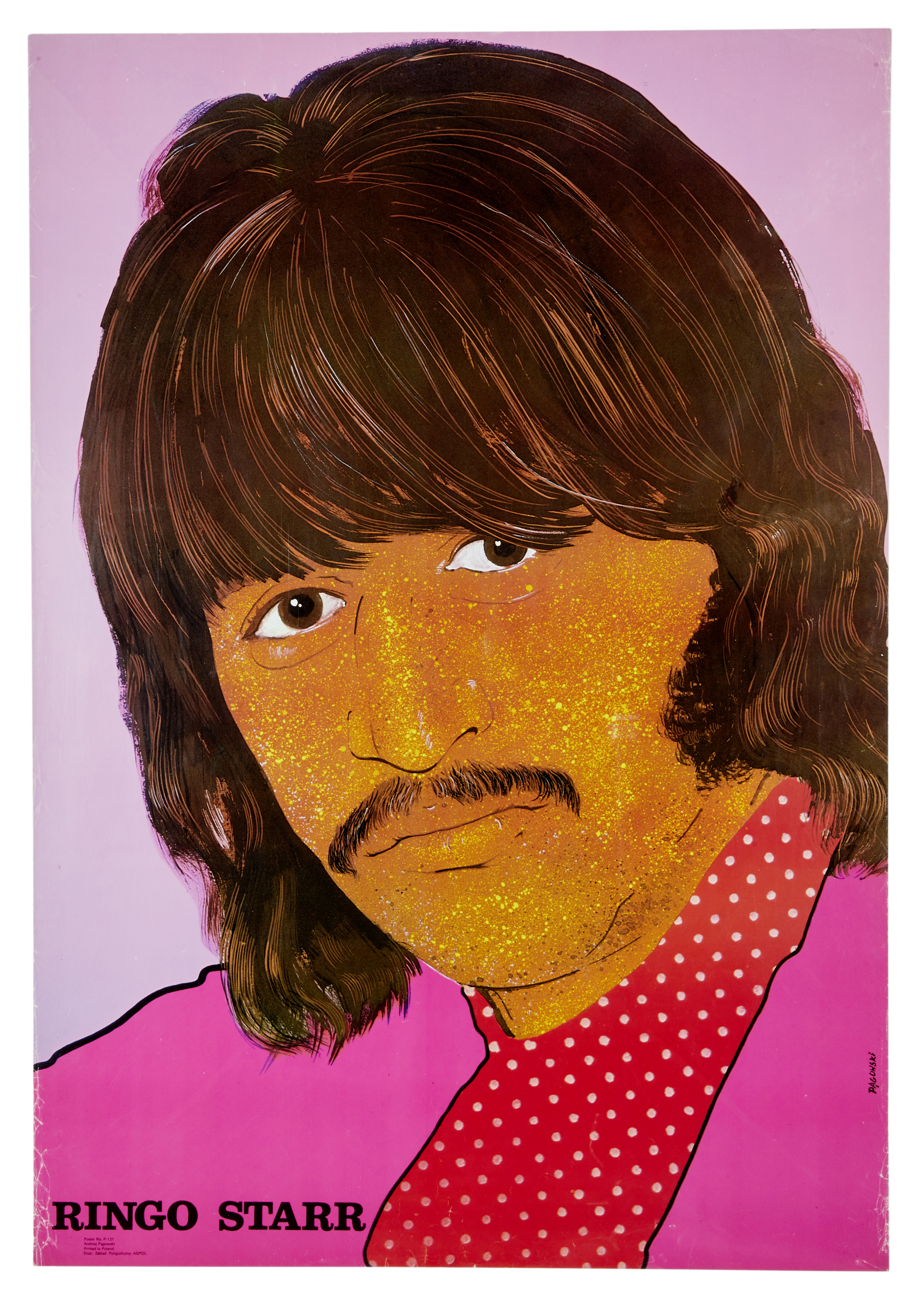 Lot 19 - A Set of 4 Polish Beatles Personality Posters late 1960s