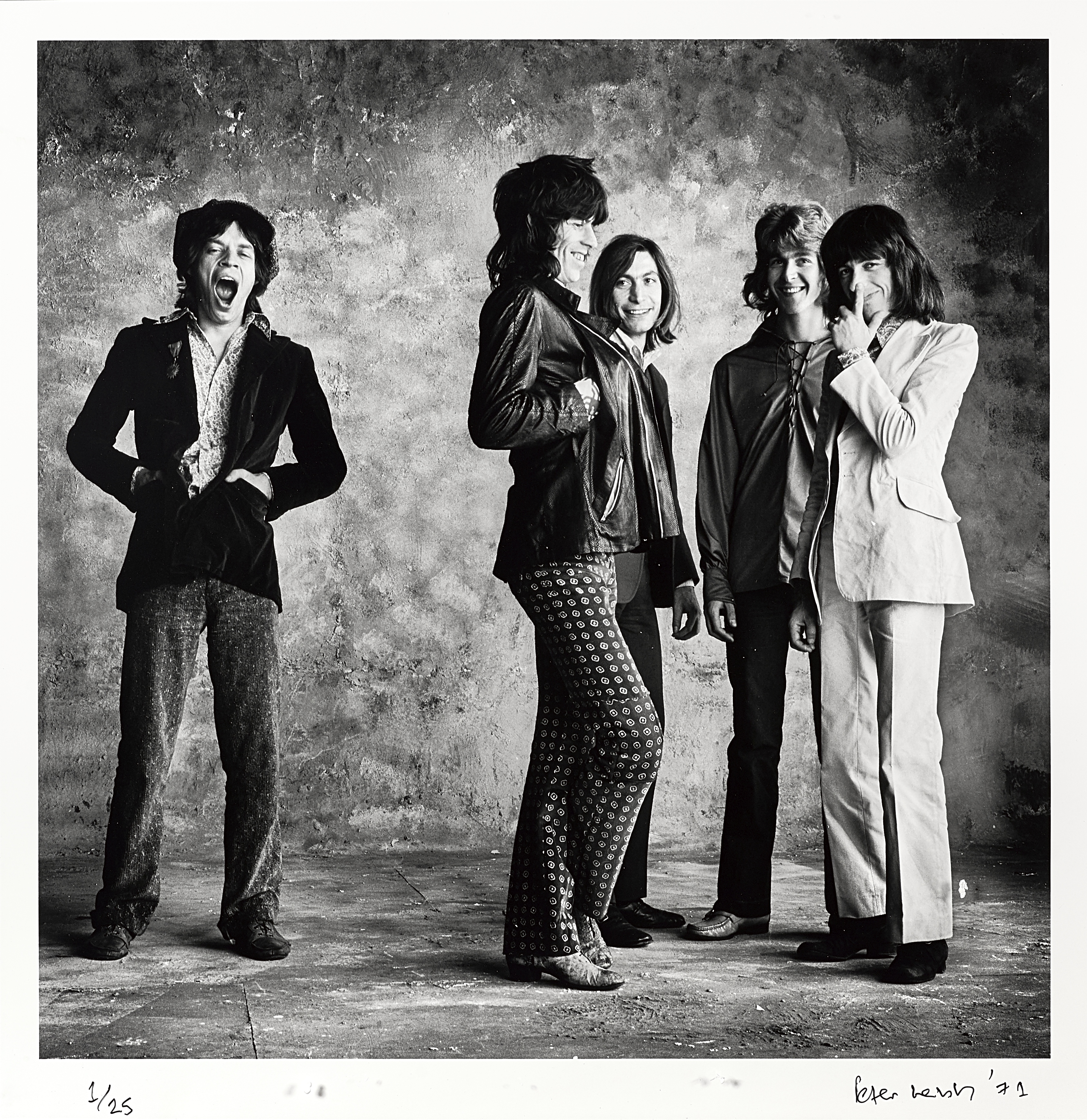 Lot 38 - A Limited Edition Photograph Of The Rolling Stones By Peter Webb (British, born 1942) 'The Big Ya...