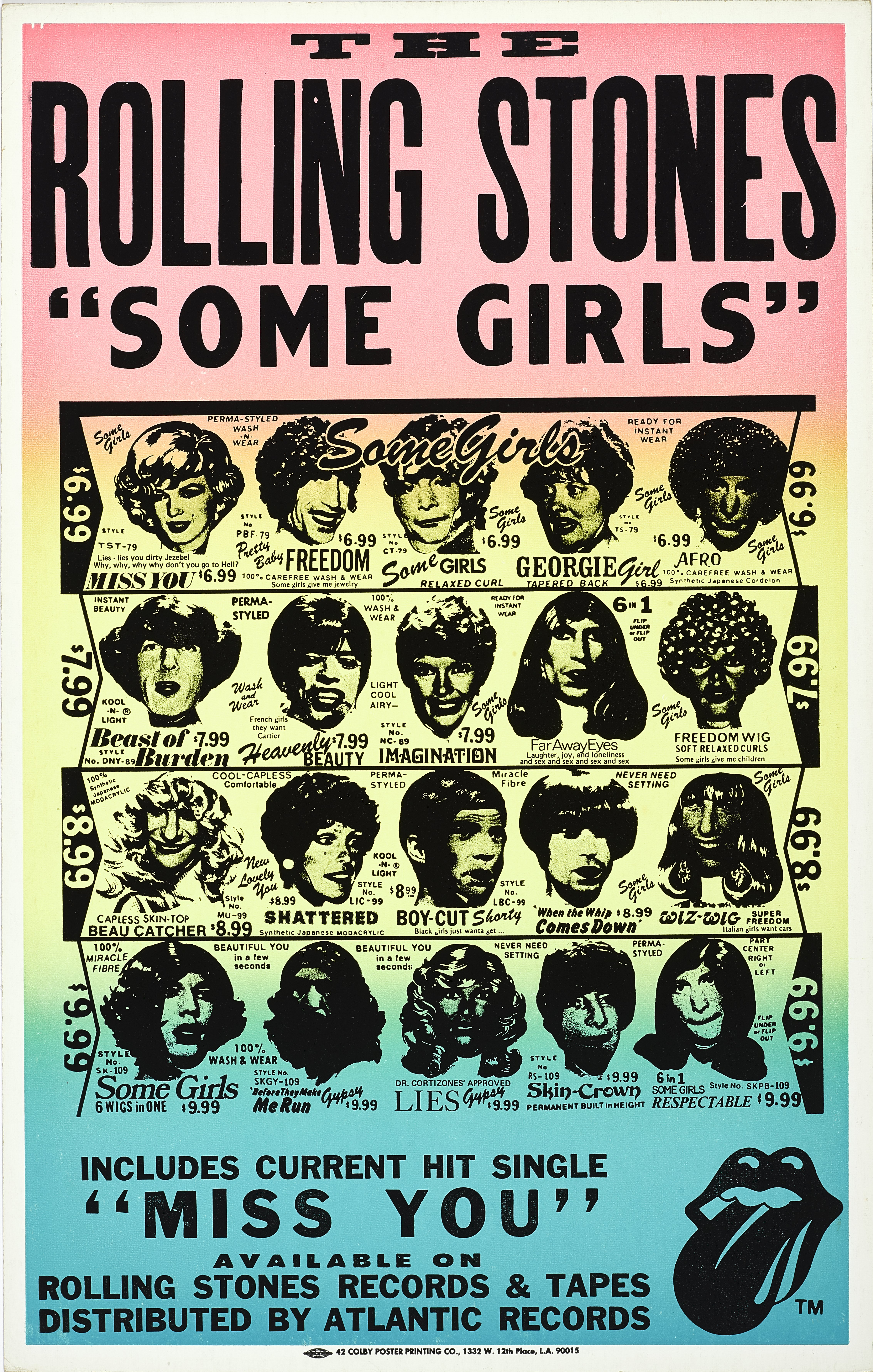 Lot 33 - A Rolling Stones Promotional Poster For The Album Some Girls