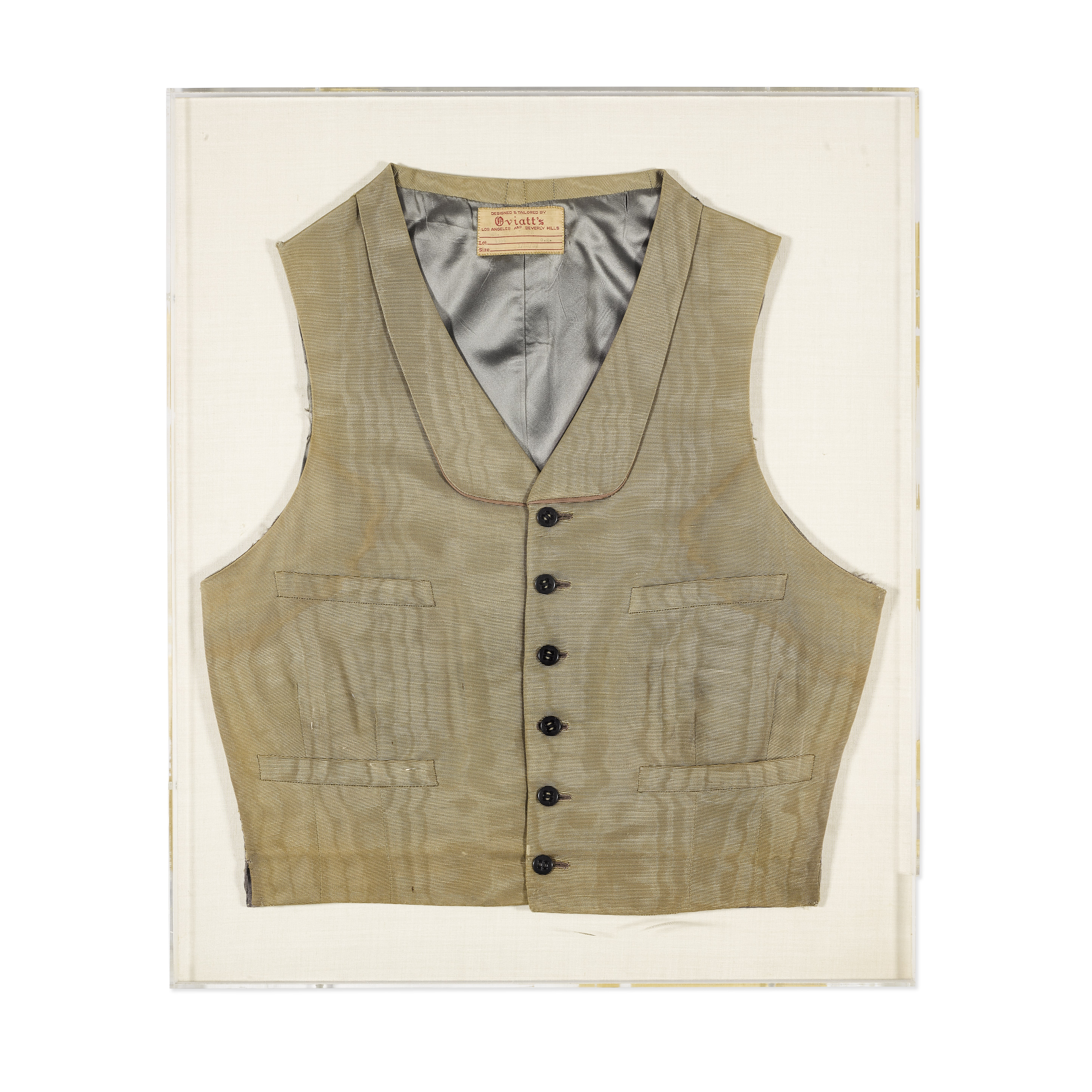 Lot 1043 - A Clark Gable vest made for Gone With the Wind