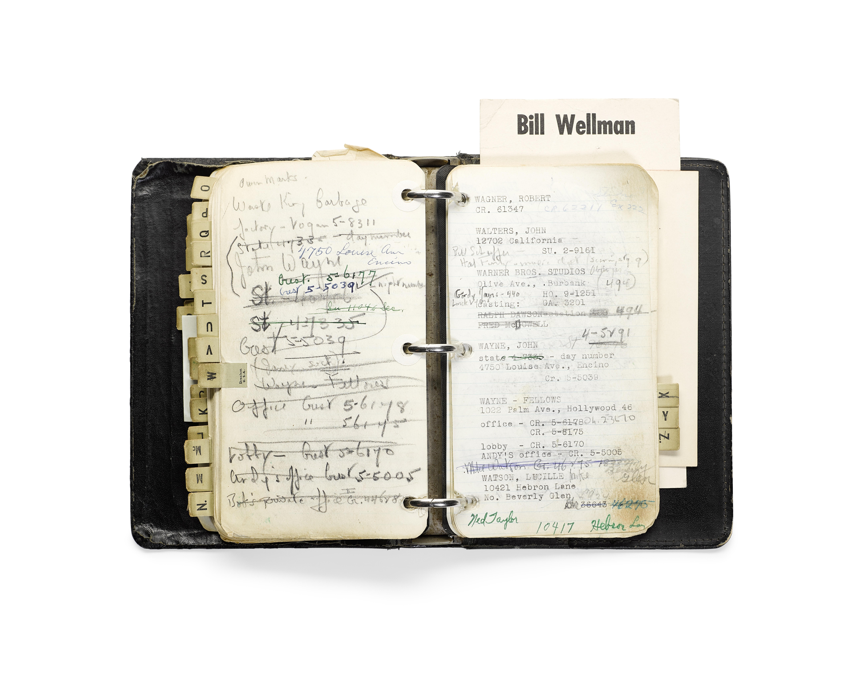 Lot 1011 - A William Wellman address book