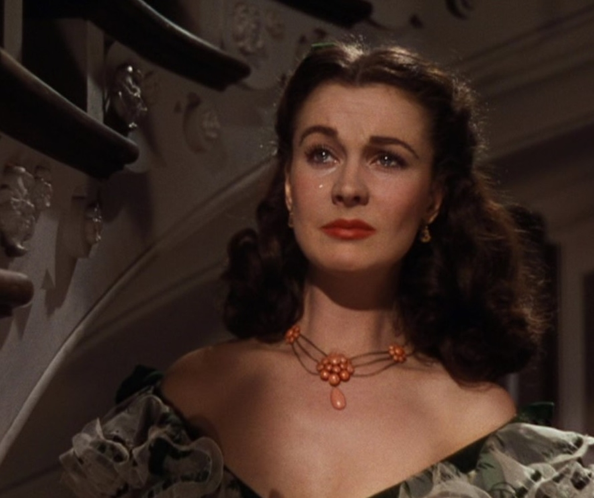 Lot 1049 - A Vivien Leigh coral necklace worn at the Twelve Oaks barbeque in Gone With the Wind