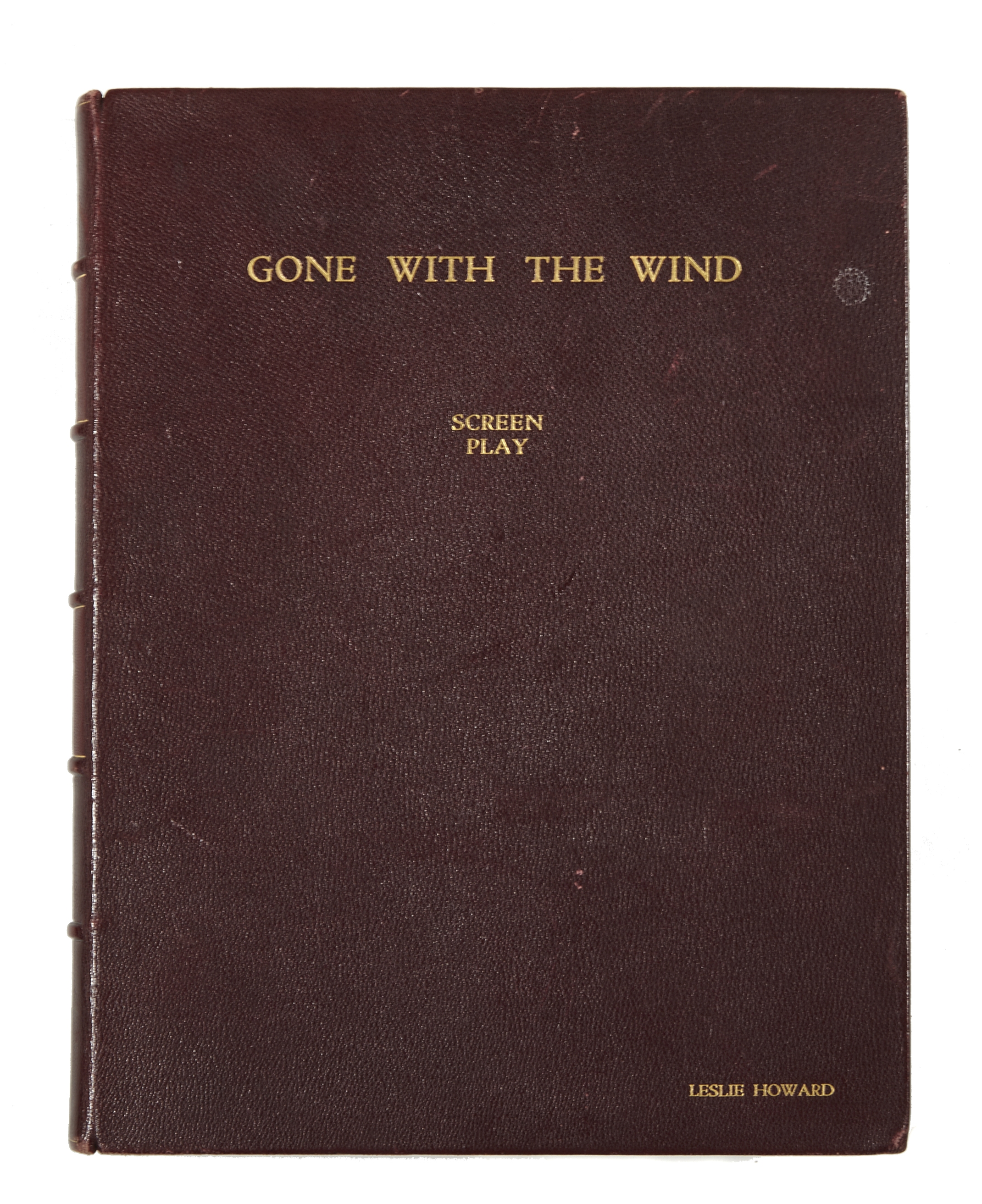 Lot 1057 - A Leslie Howard custom-bound final shooting script of Gone With the Wind, gifted to him by David ...