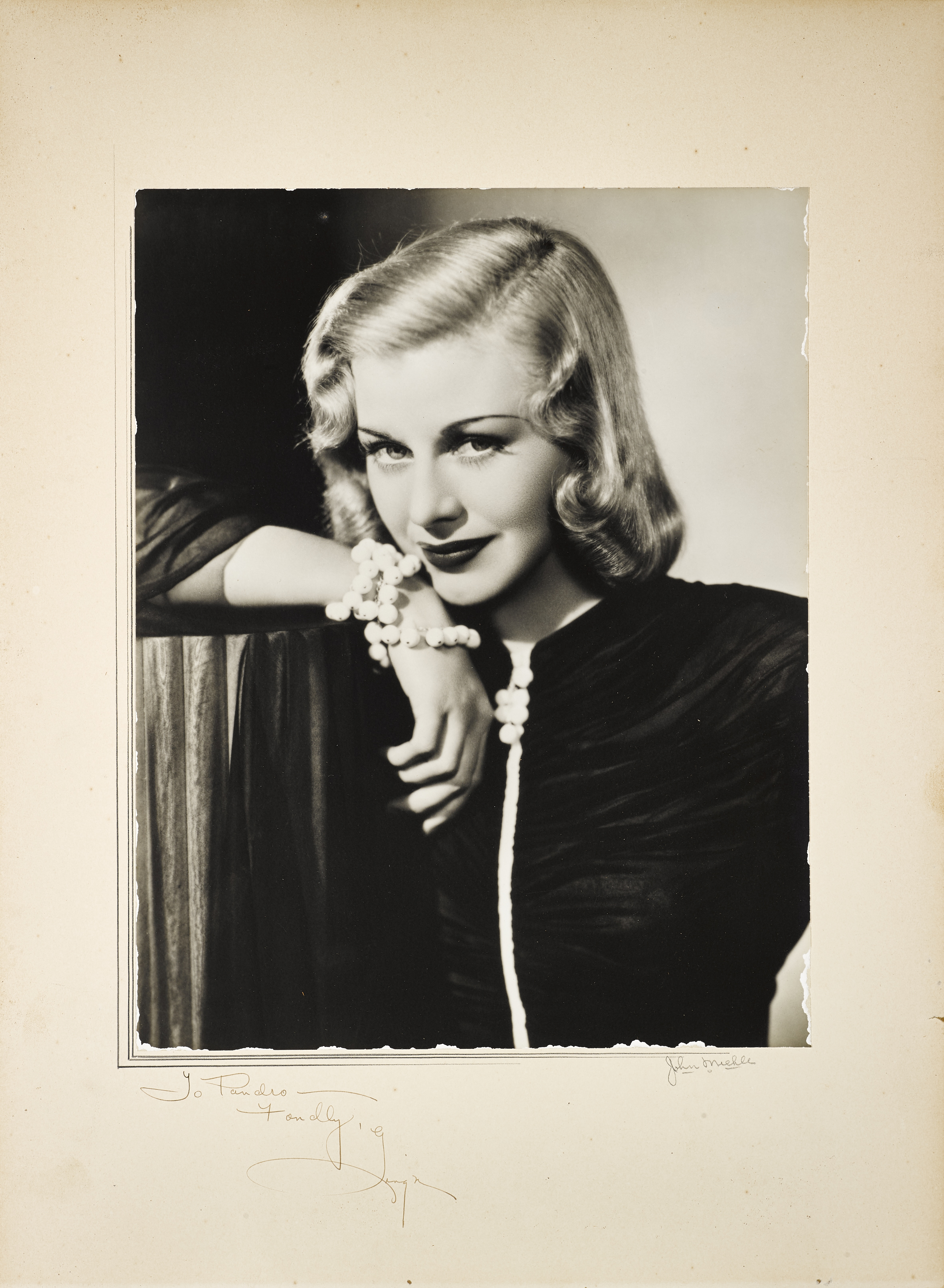 Lot 1004 - A Ginger Rogers signed photo to Pandro Berman