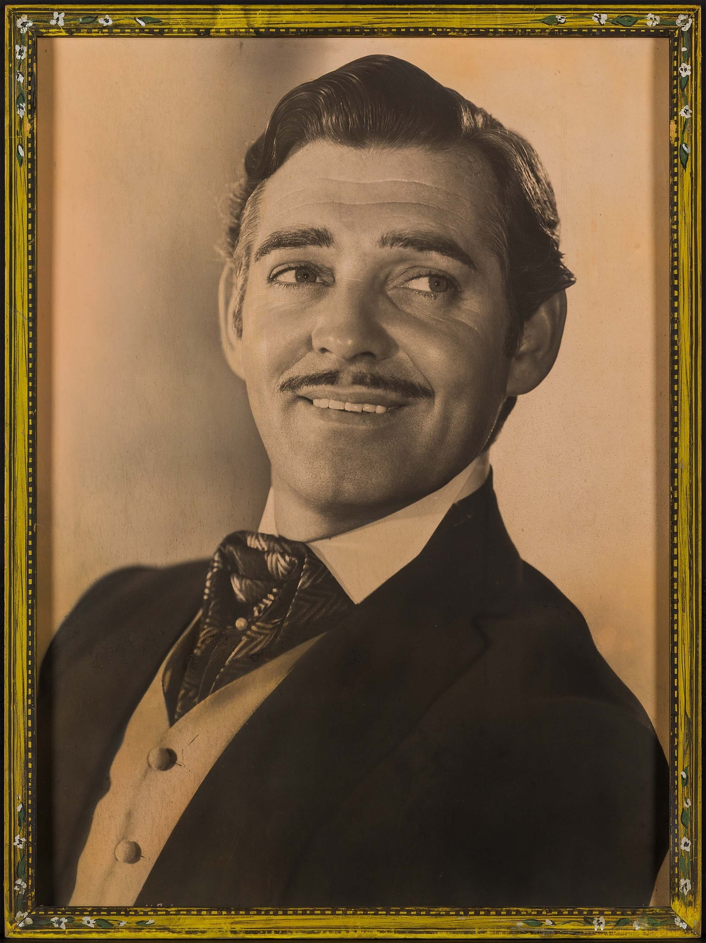 Lot 1059 - A Clark Gable oversized lobby portrait for Gone with the Wind