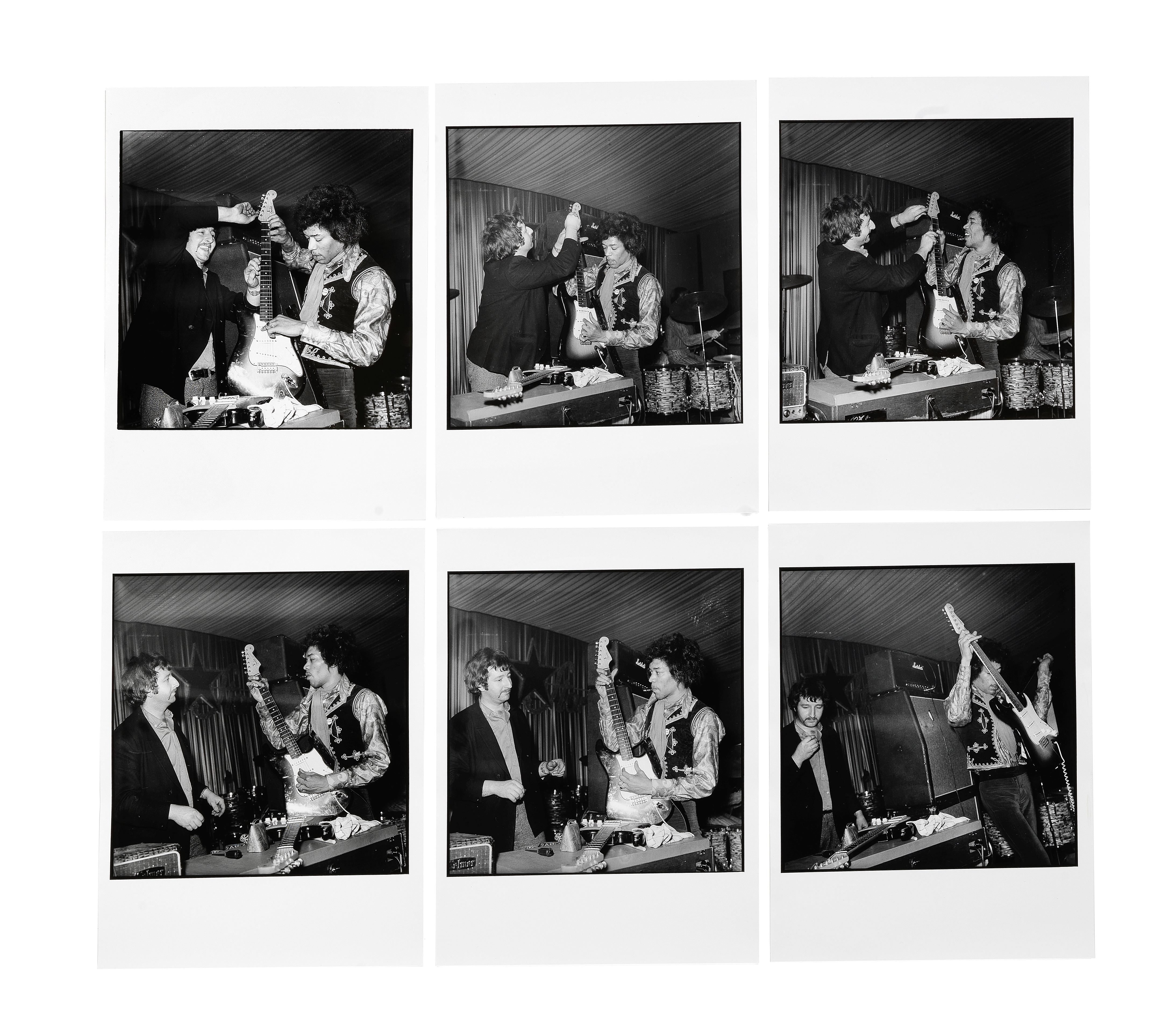 Lot 52 - Günter Zint (German, b.1941): a set of six silver gelatin prints of Jimi Hendrix in Hamburg, 1967...