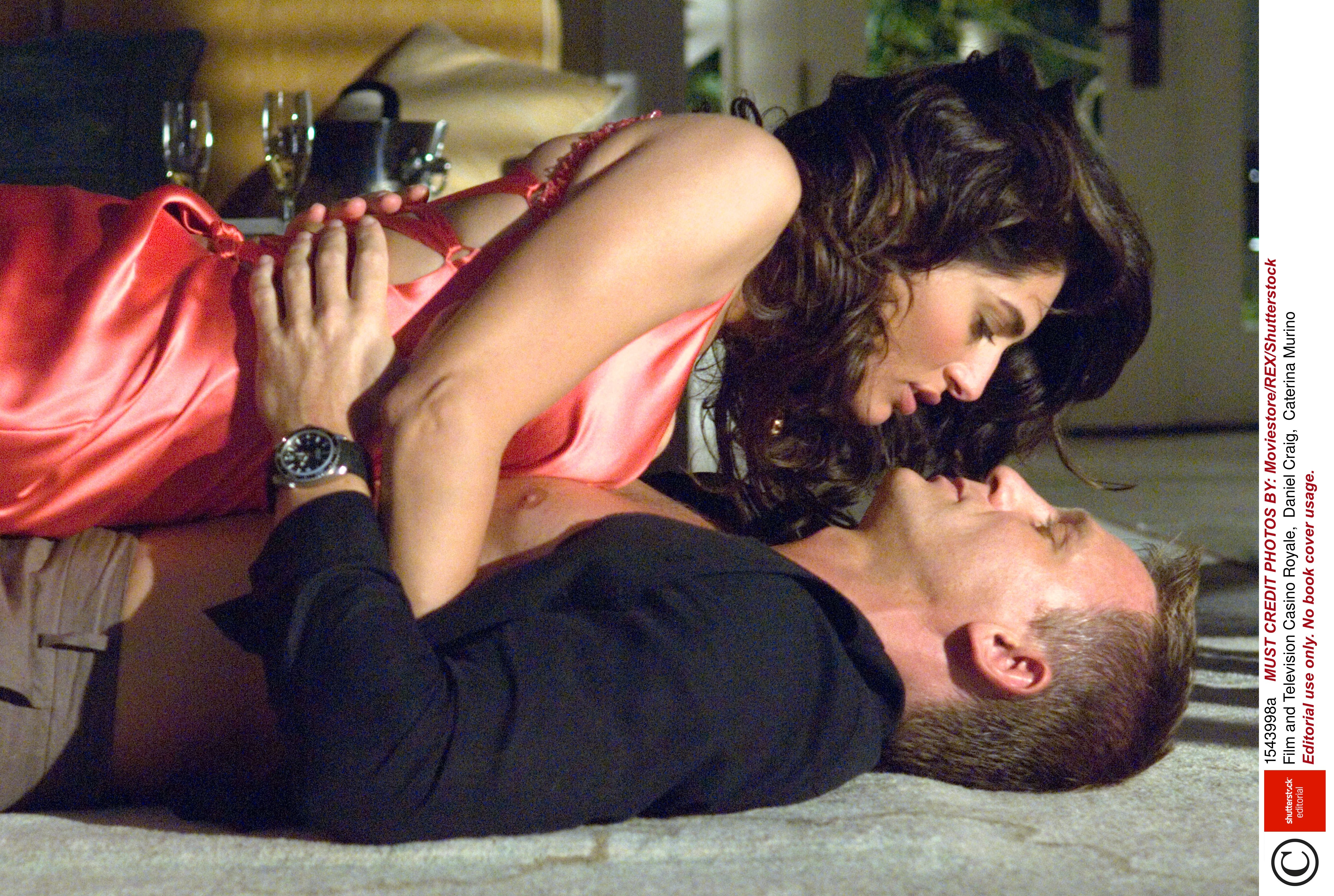 Lot 29 - Casino Royale / Caterina Murino: A screen-used pink satin dress worn by Caterina Murino for her r...