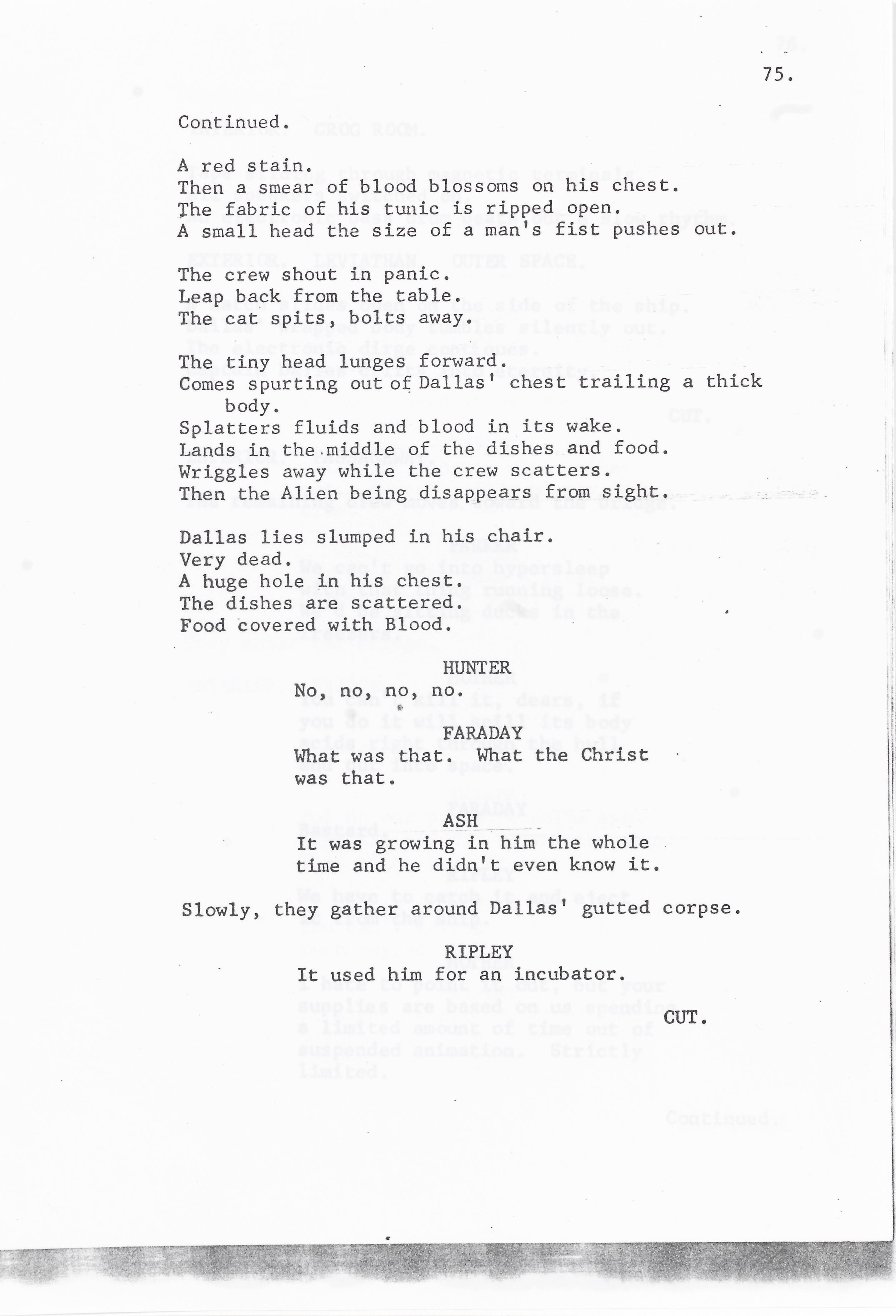 Lot 33 - Alien: A Revised First Draft Script, circa 1978,