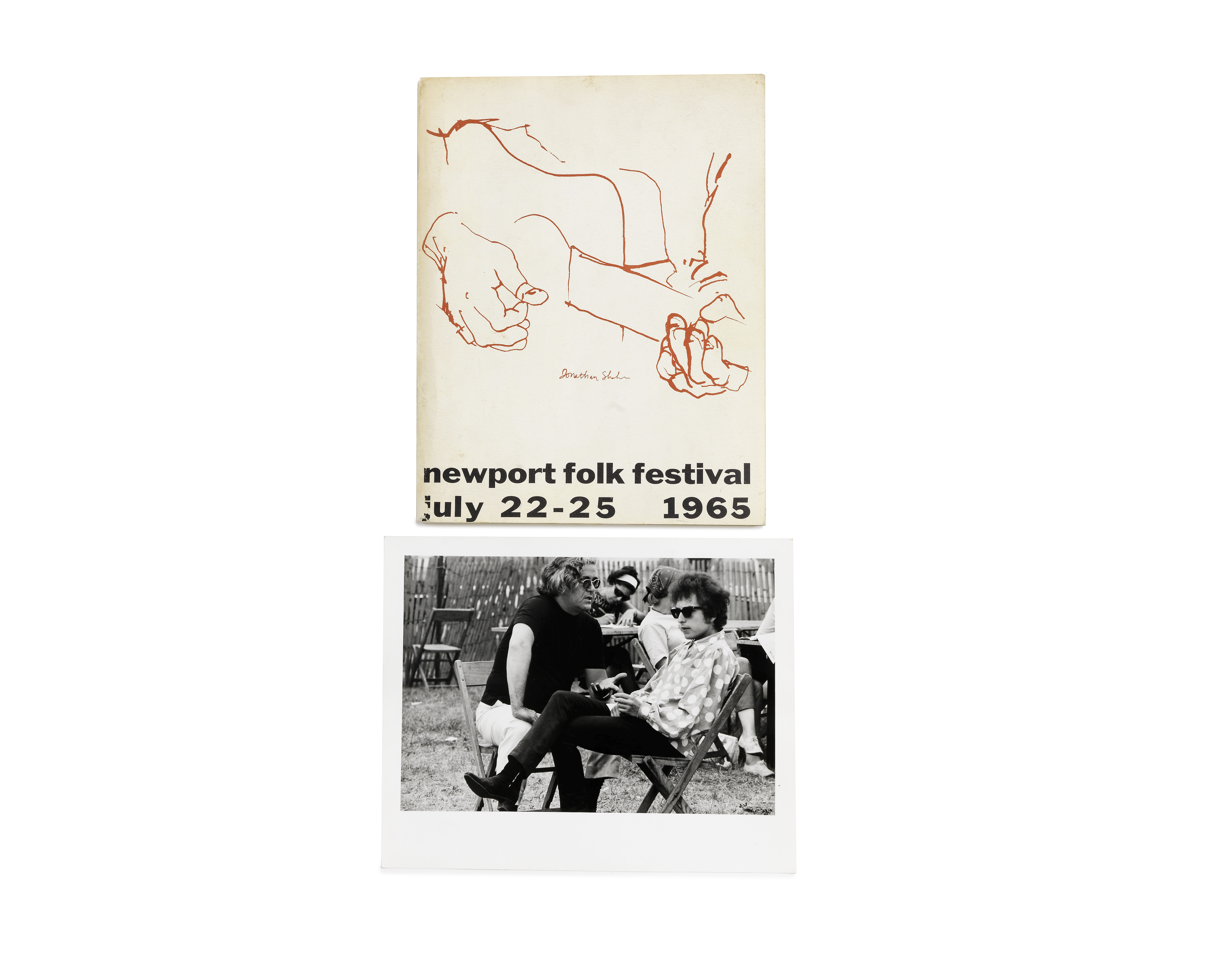Lot 50 - Bob Dylan: A rare programme for the Newport Folk Festival, 22nd-25th July 1965, 2