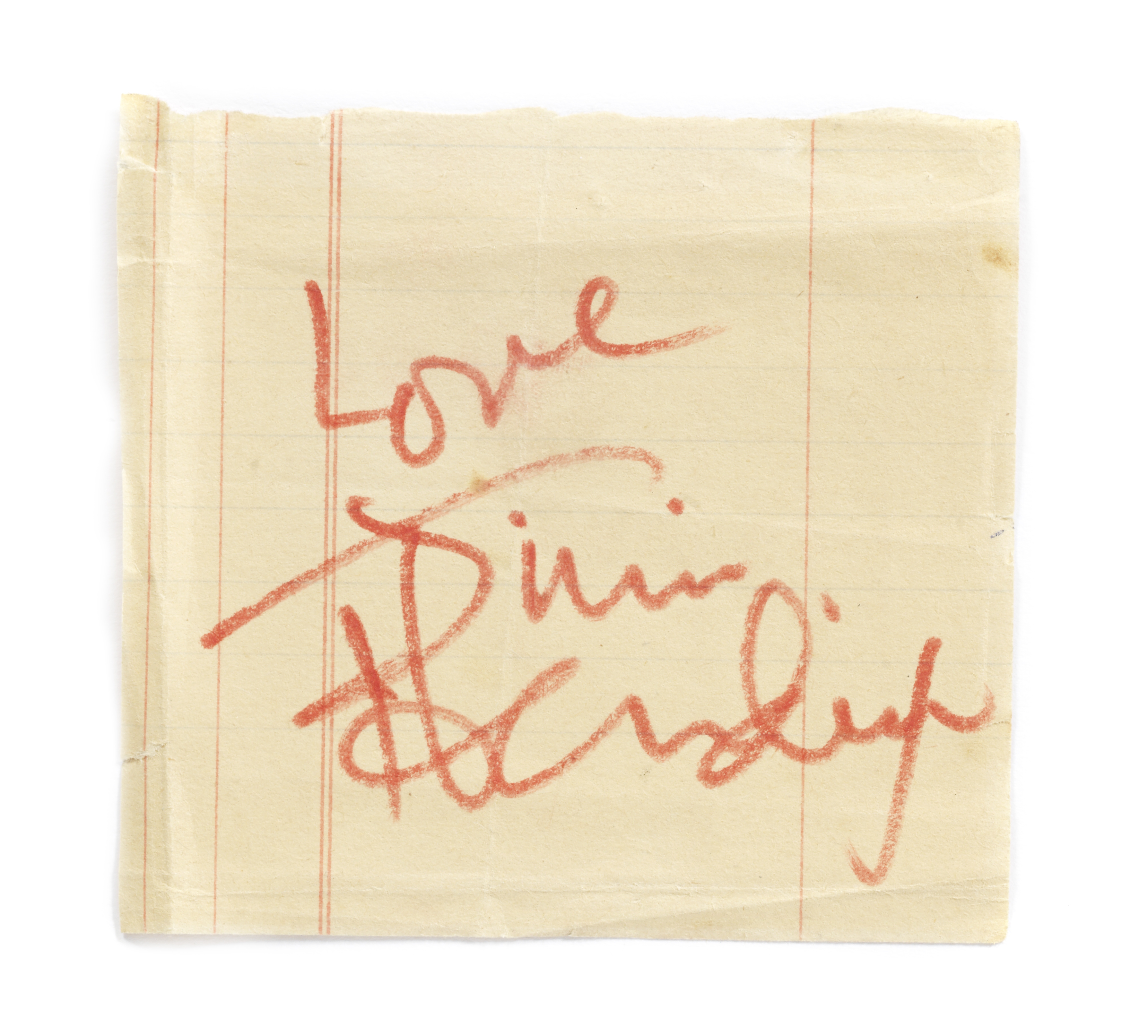 Lot 51 - Jimi Hendrix: An autograph, probably 1967,