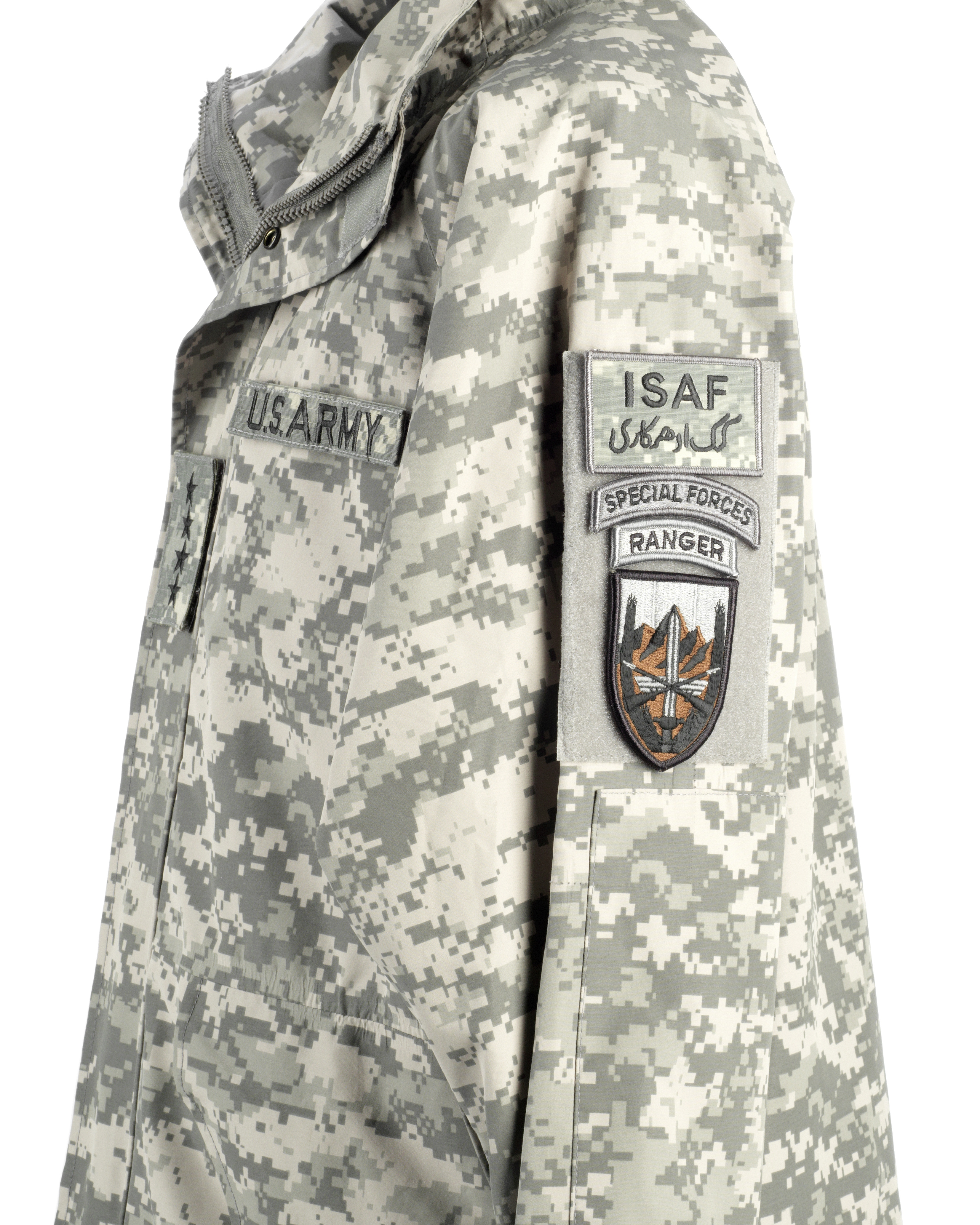 Lot 23 - Brad Pitt: A military-style camouflage raincoat worn by Brad Pitt for his role as 'Glen McMahon' ...