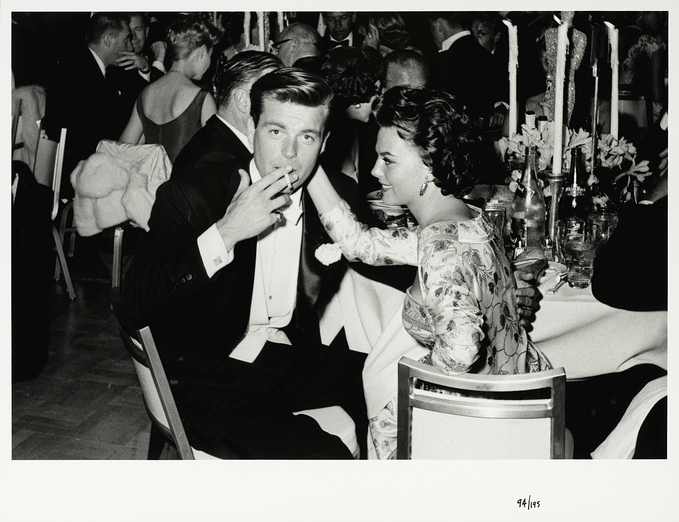 Lot 10 - Frank Worth (American, b.1923-d.2000): A black and white photographic print of Robert Wagner and ...
