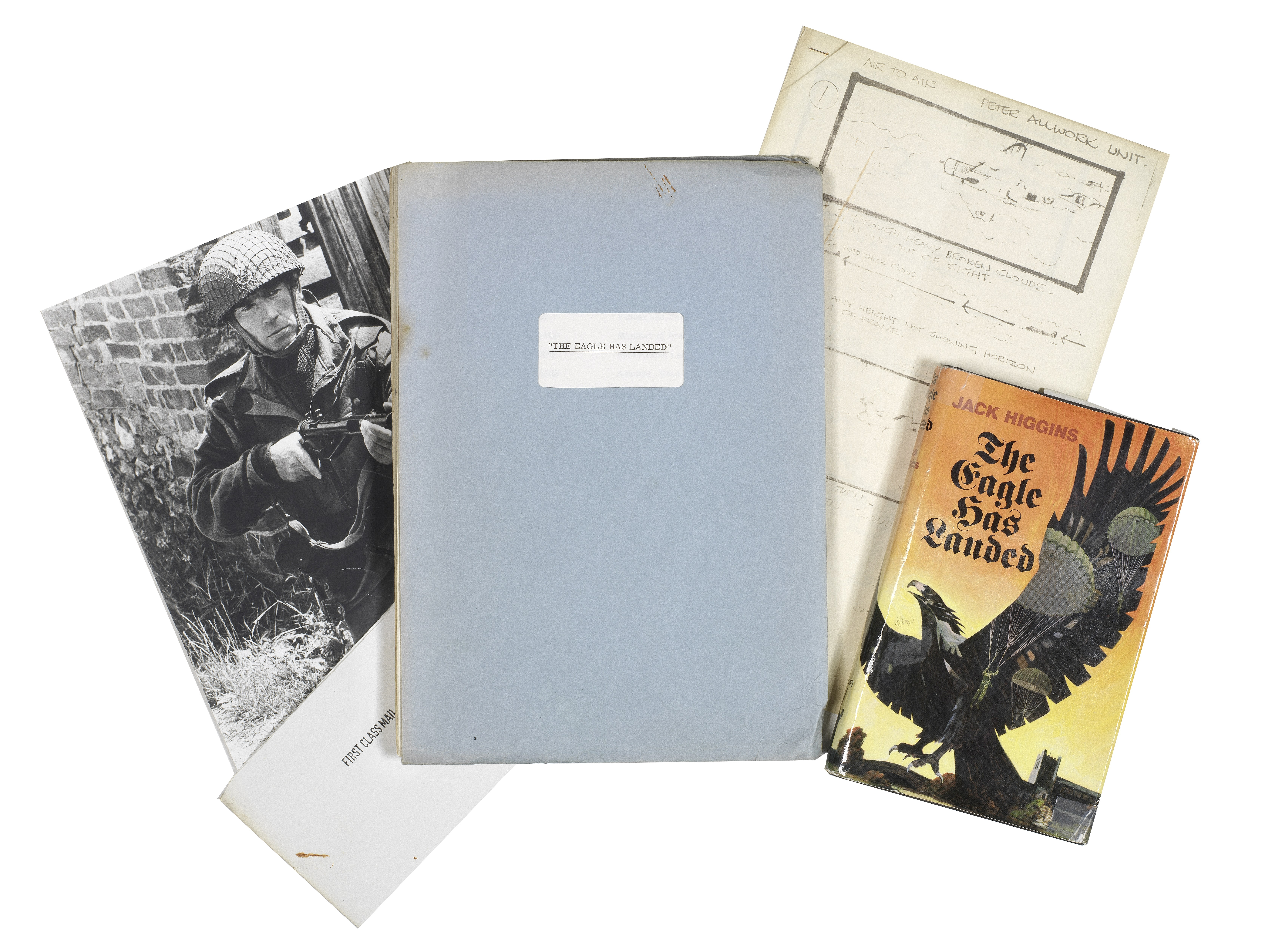 Lot 19 - The Eagle Has Landed: A screenplay script for the film and related memorabilia, 1976, Qty