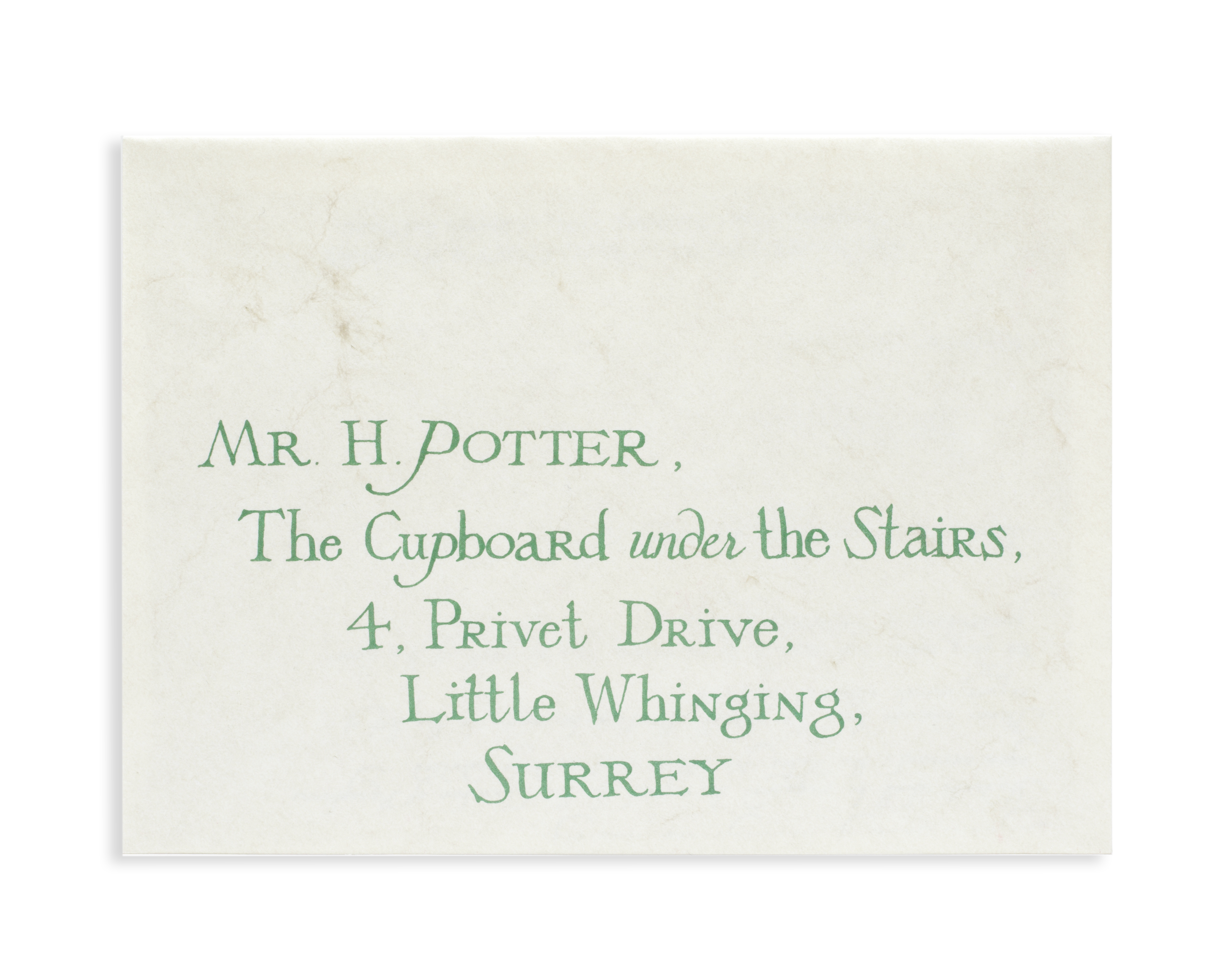 Lot 36A - Harry Potter: A Hogwarts acceptance letter with envelope from The Philosopher's Stone, Warner Bro...