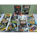Lot 670 - A Lot of 1978 Star Wars Weekly comics, Numbers 1-10. All in good condition.