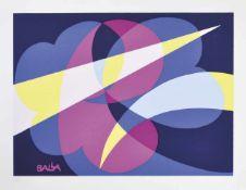Giacomo Balla (Turin/Torino 1871 – Rom/Roma 1958)Compenetrazione di luce, 1925/1982;Farbserigraphie,