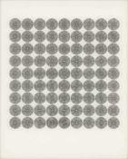 Ludwig Wilding (Gründstadt 1927 – Buchholz 2010Ohne Titel, 1967;Komposition mit konzentrischen im