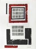 Nicola Carrino (Taranto 1932 – Roma 2018)Ohne Titel, 1963;Mischtechnik, Collage auf Papier, 65 x