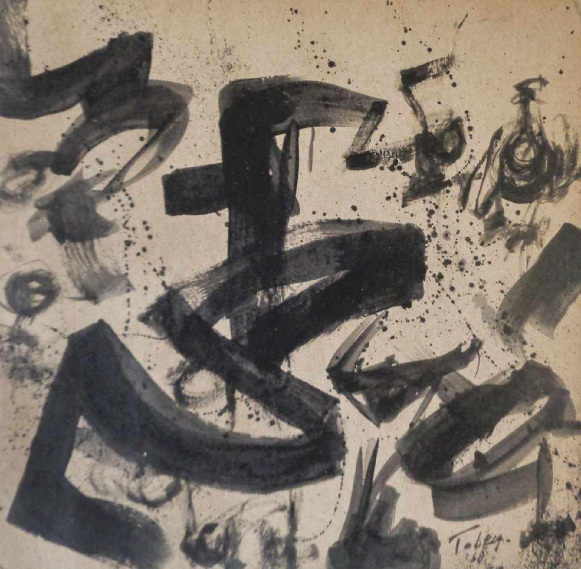 Mark Tobey (Centerville 1890 – Basel/Basilea 1976 Ohne Titel, 1968;Tusche auf Karton, 30,8 x 31