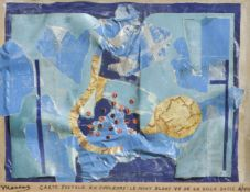 Edouard Lèon Théodore Mesens (Brüssel/Bruxelles 1903 – 1971)Carte postale en couleurs,1959;le mont