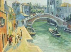 Roberto Marcello Iras Baldessari (Innsbruck 1894 – Rom/Roma 1965)Schlägerei am Kanal, um 1914;Öl auf