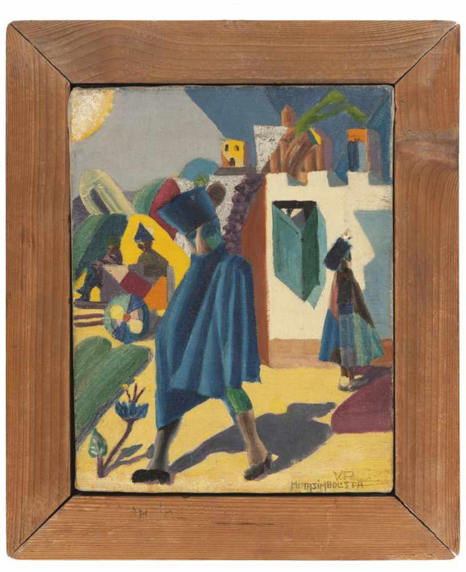 Vinicio Paladini (1902 – 1971)Metasimbolista, 1920;Öl auf Leinwand, 28 x 22 cm, Originalrahmen,